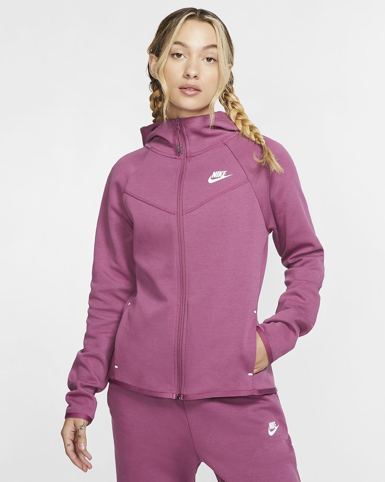 Sudadera con capucha de cierre completo para mujer Nike Sportswear Windrunner Tech Fleece