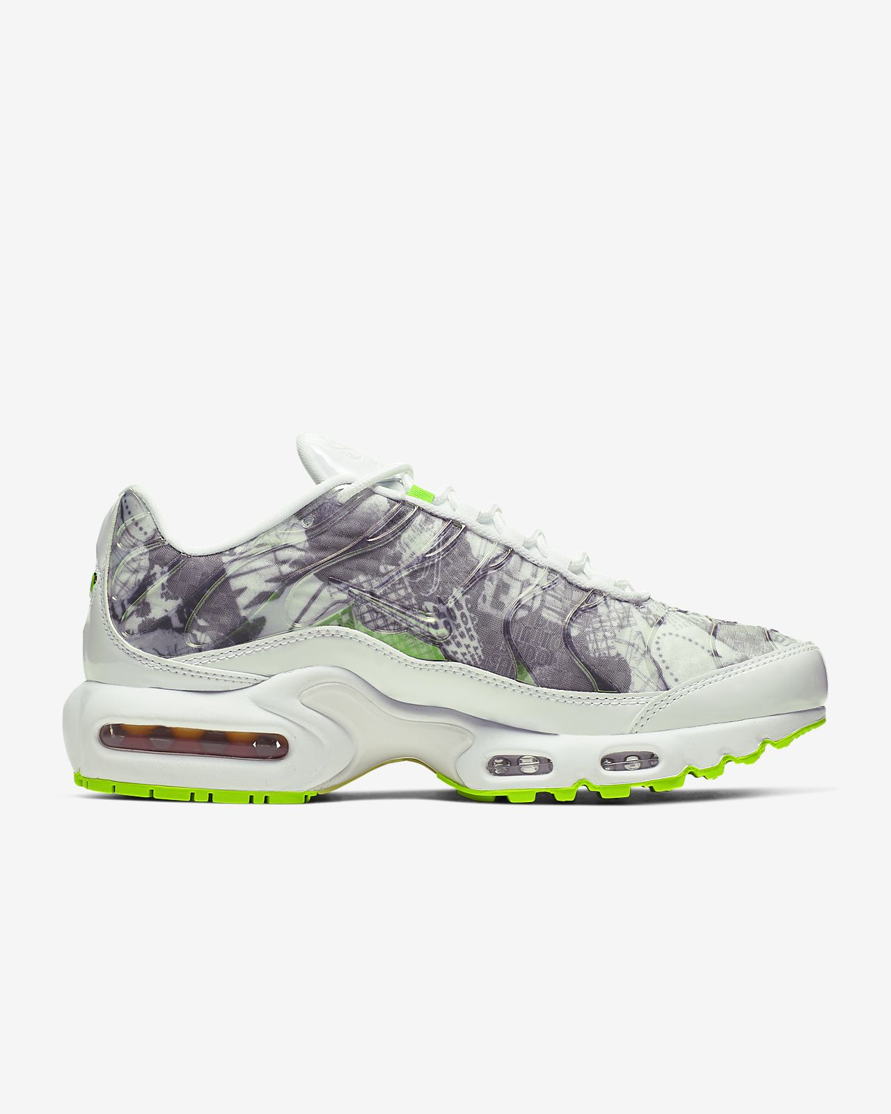 nike air max plus tn hvit lær
