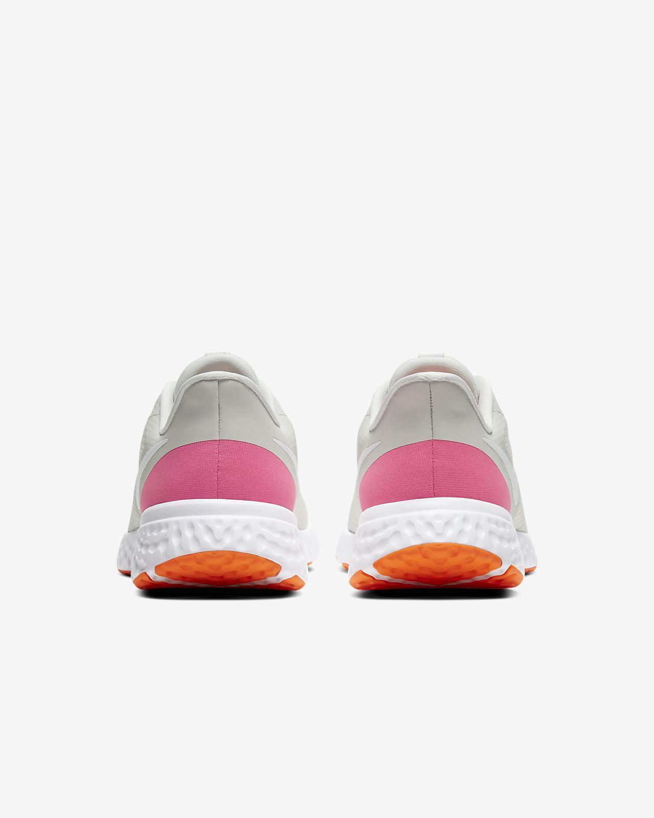 womens nike revolution 3 orange white pink size 7 wide