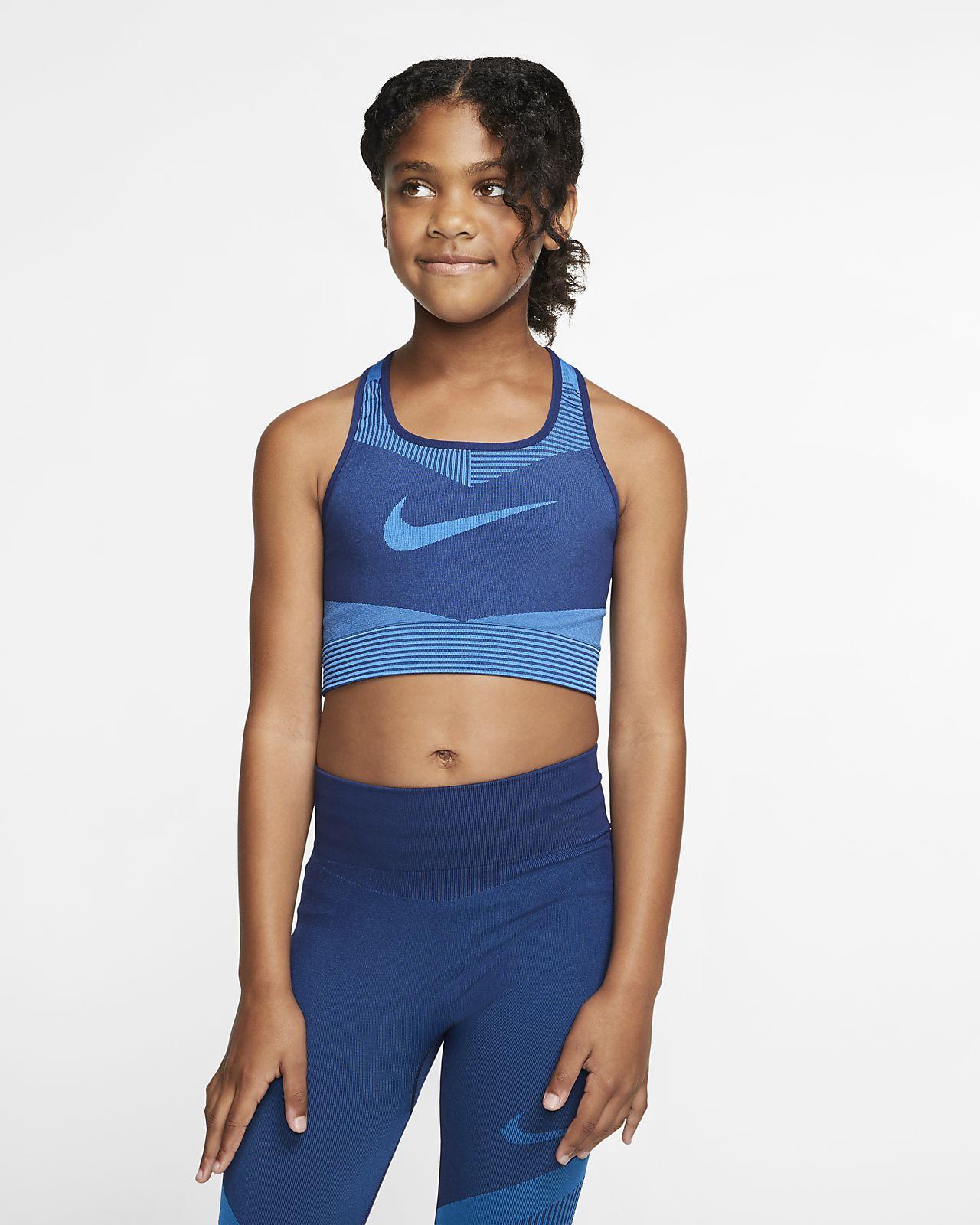 Nike FE/NOM Big Kids' (Girls') Seamless Sports Bra