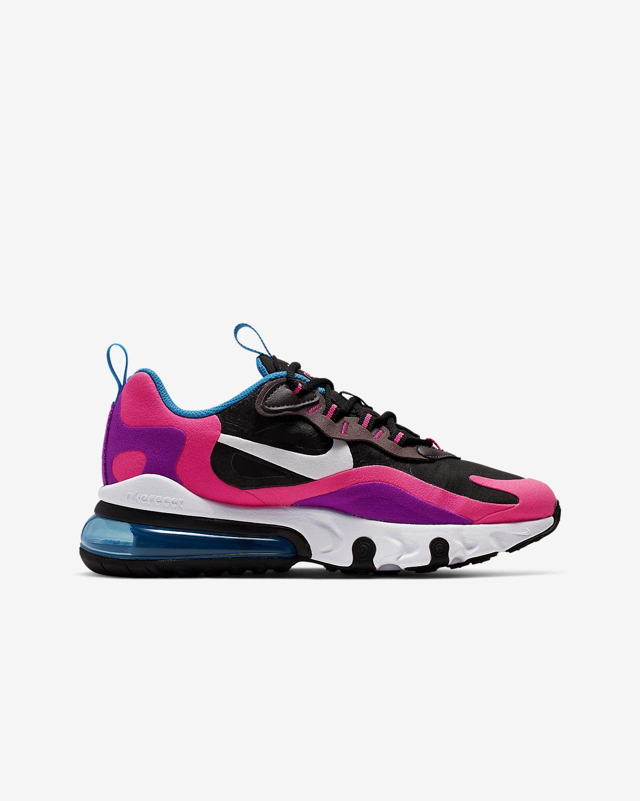 Nike Air Max 270 React sko til store børn