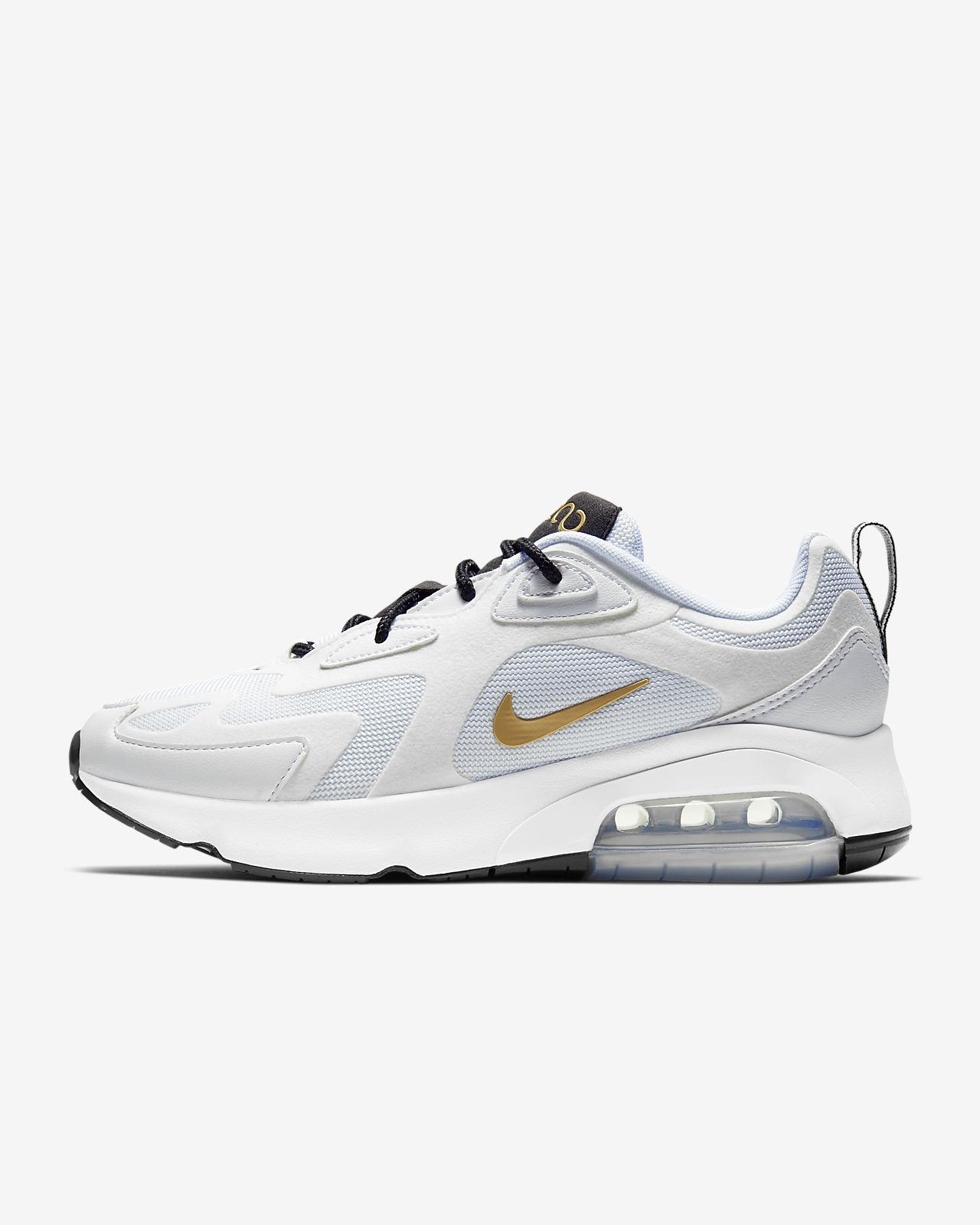 air max 200 femme blanche et or