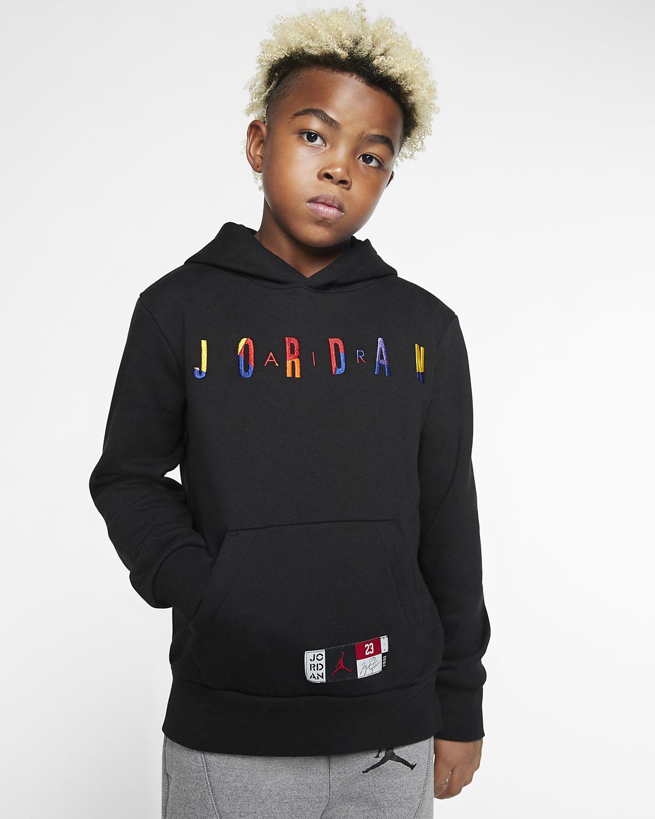 Felpa pullover in fleece con cappuccio Air Jordan Ragazzo