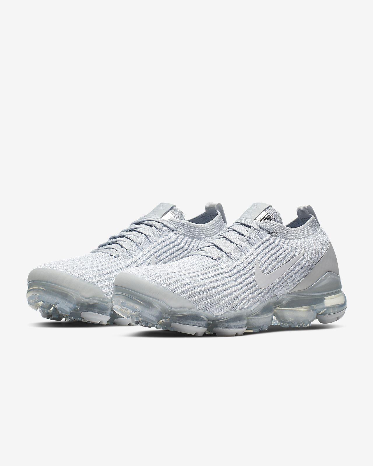 nike air vapormax flyknit 3 white/platinum women's shoe