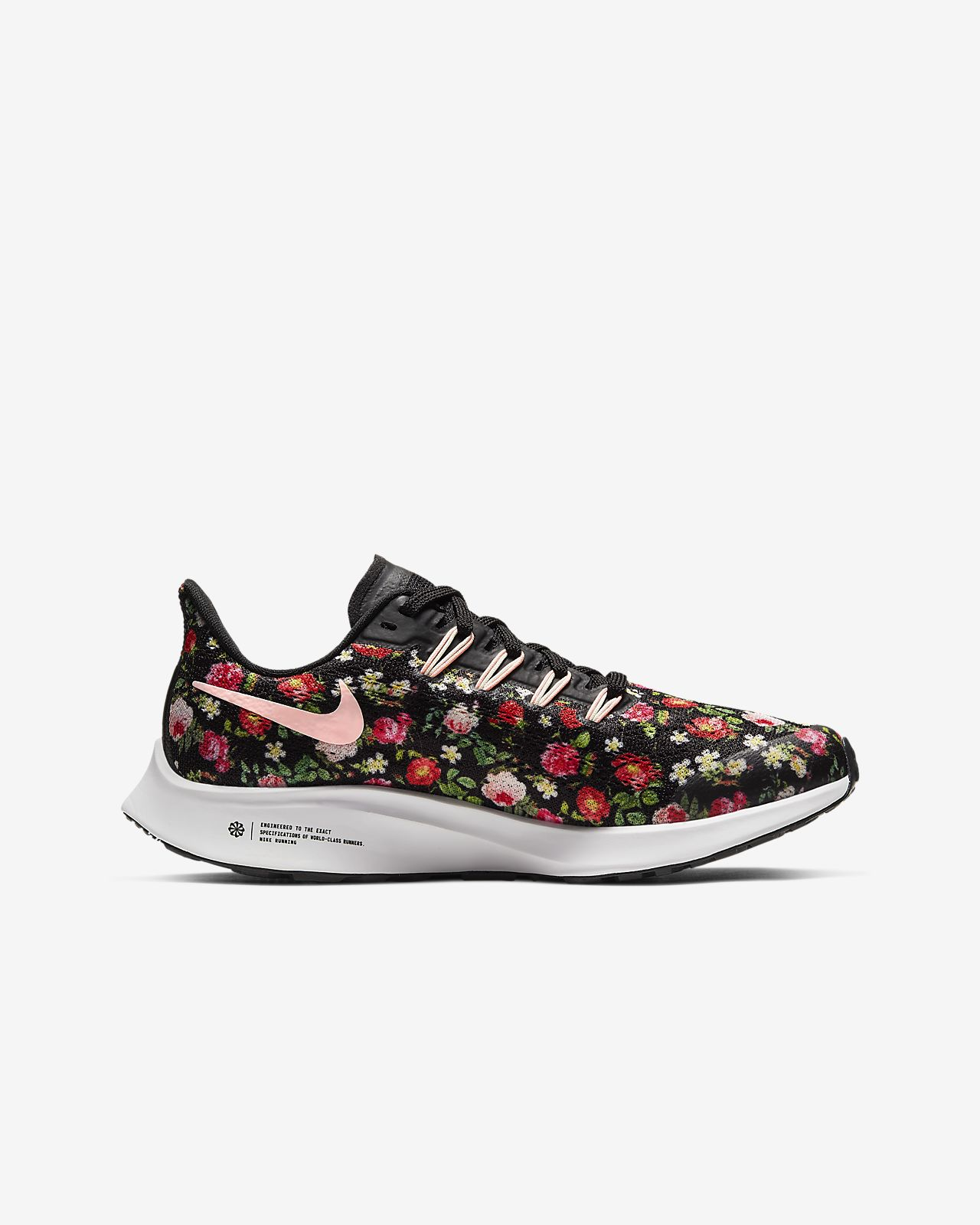 nike running shoes with flowers