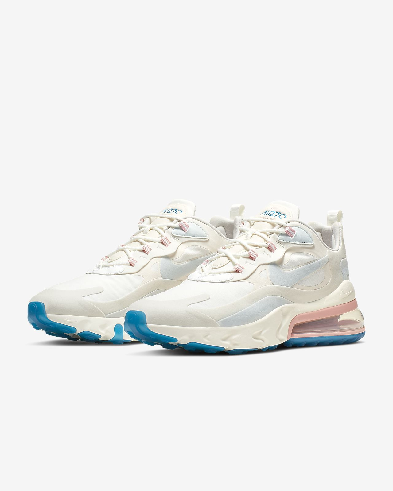 Nike Air Max 270 React Bauhaus Sneaker Hook Up Summer Love White Hoodie