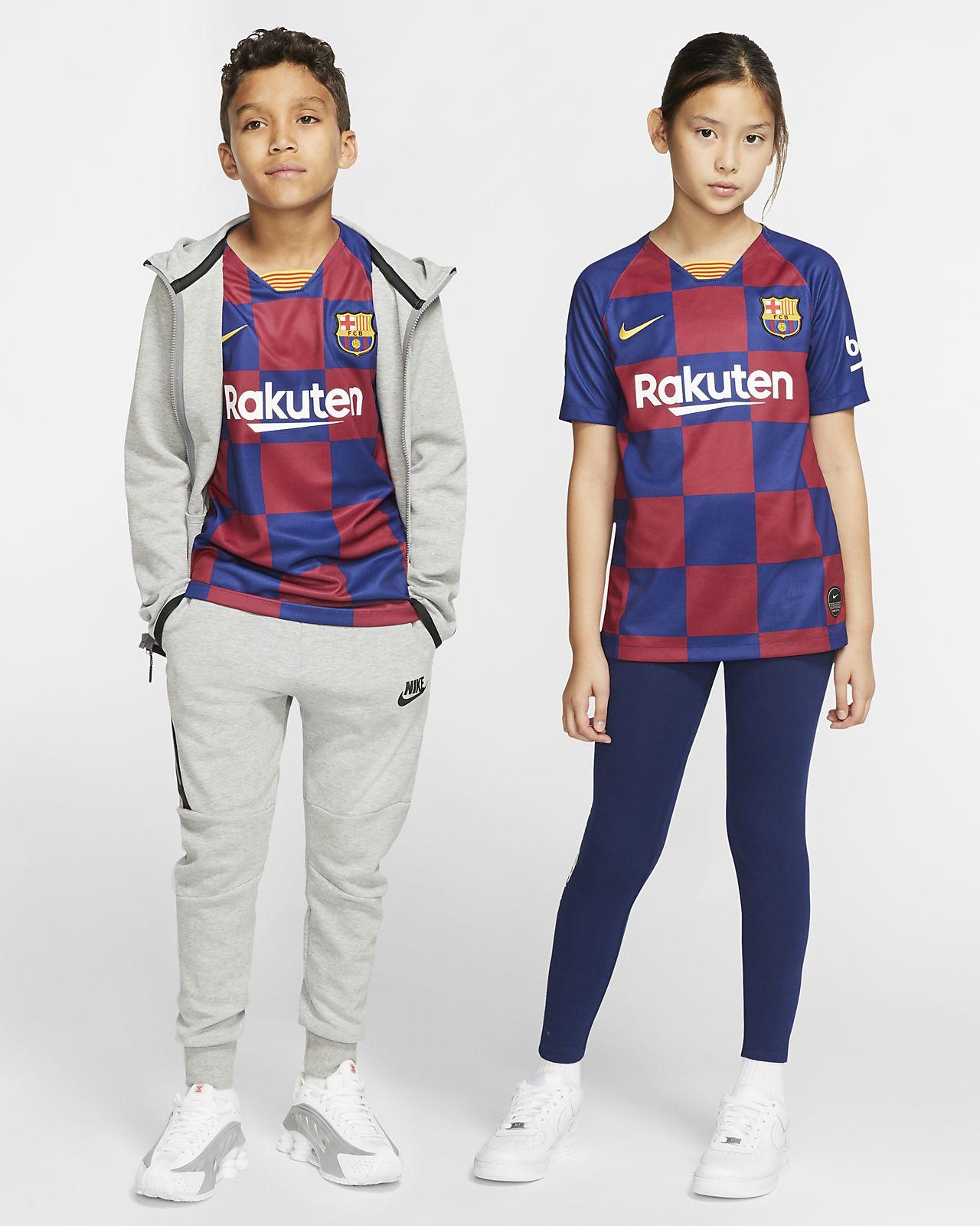 FC Barcelona 2019/20 Stadium Home Fußballtrikot für ältere Kinder