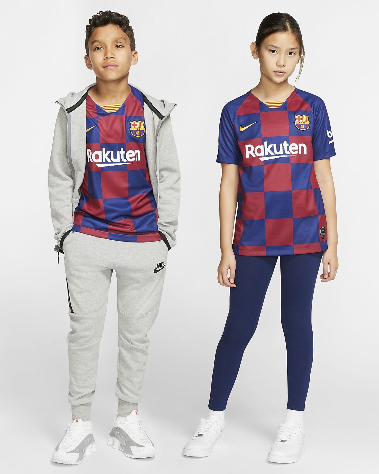 FC Barcelona 2019/20 Stadium Home Older Kids' Football Shirt