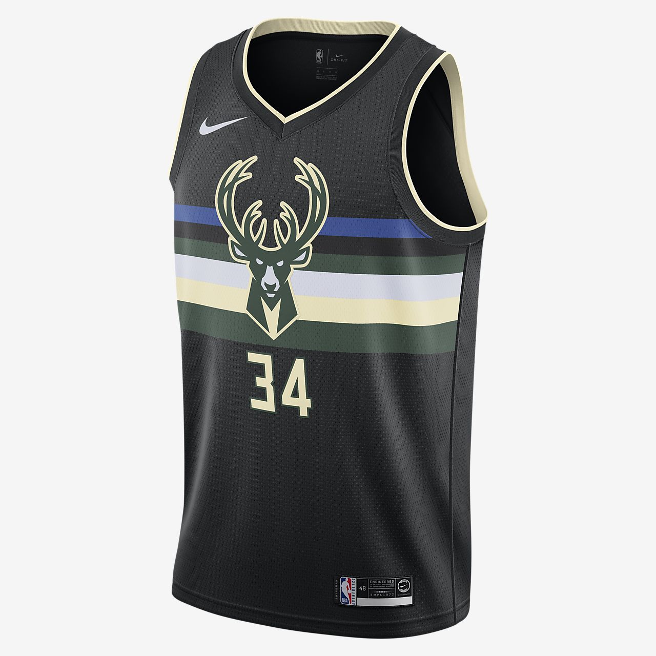 Camisola NBA da Nike Swingman Giannis Antetokounmpo Bucks Statement Edition