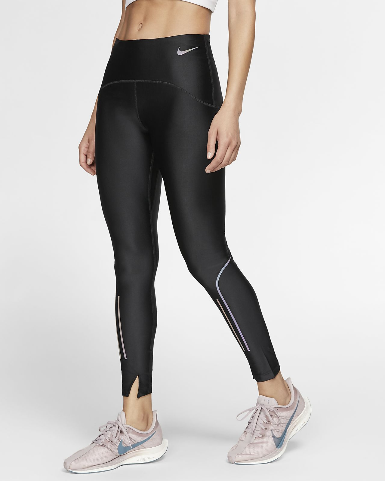More Mile Girls Long Running Tights Black-7-8 Years