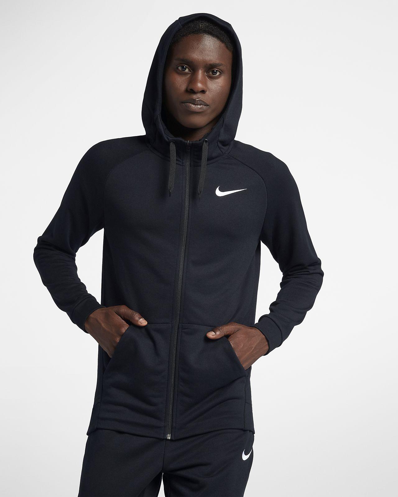 Hoodie de treino com fecho completo Nike Dri FIT para homem