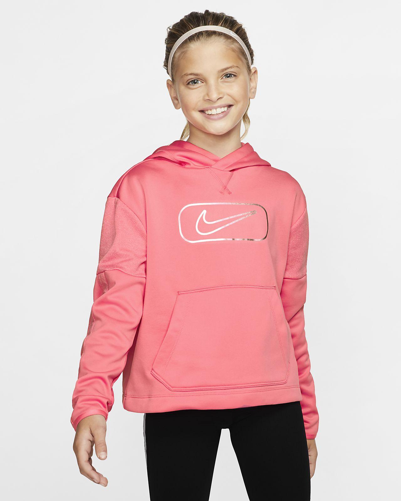 Nike Therma Big Kids' (Girls') Pullover Training Hoodie