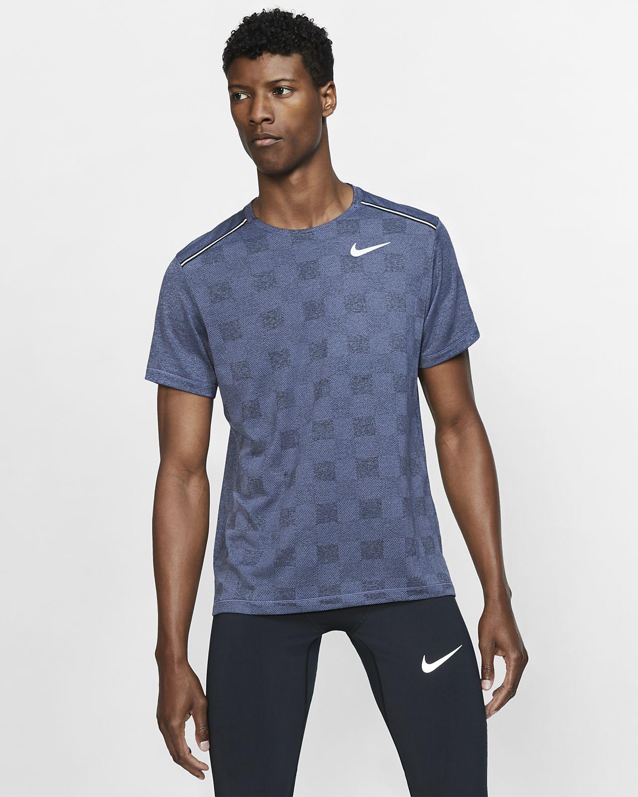 Męska dzianinowa koszulka z krótkim rękawem do biegania Nike Dri FIT Miler