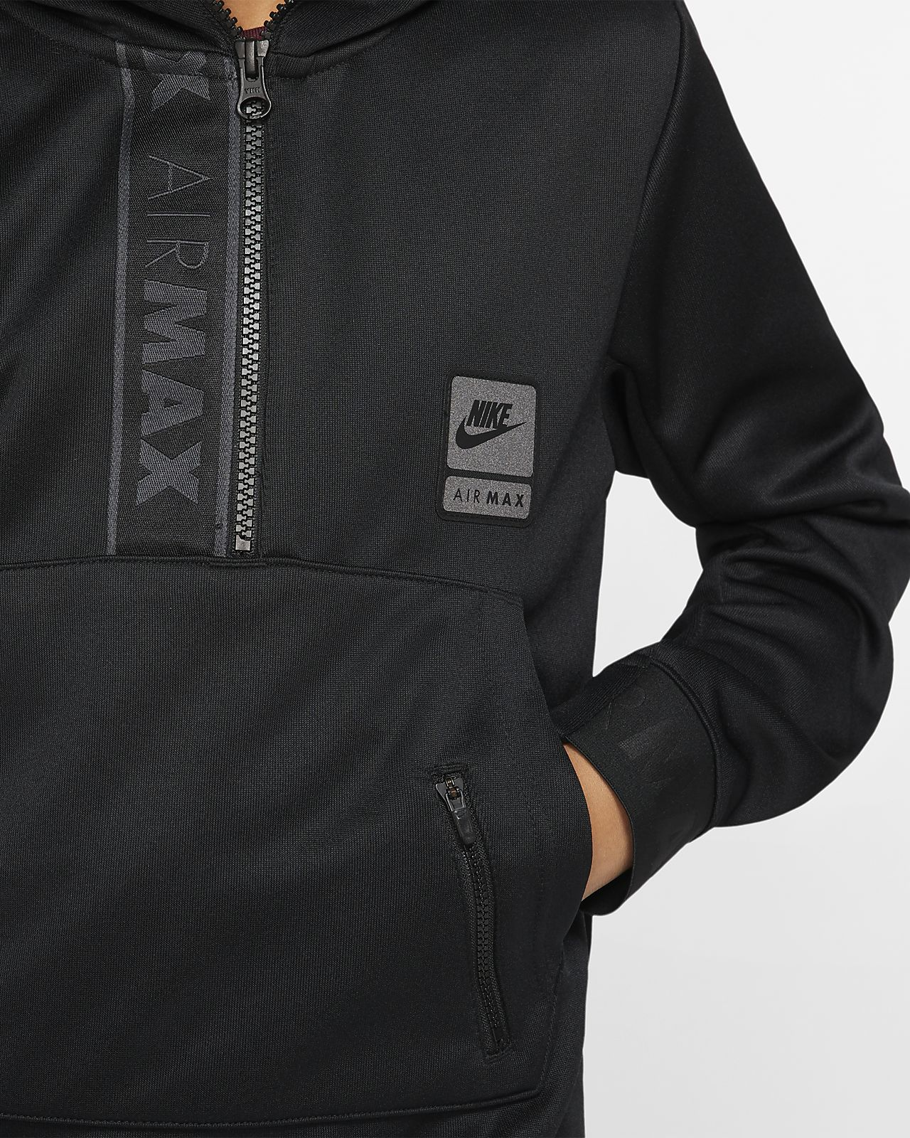 Sweat à capuche à demi zip Nike Air Max pour Enfant plus âgé