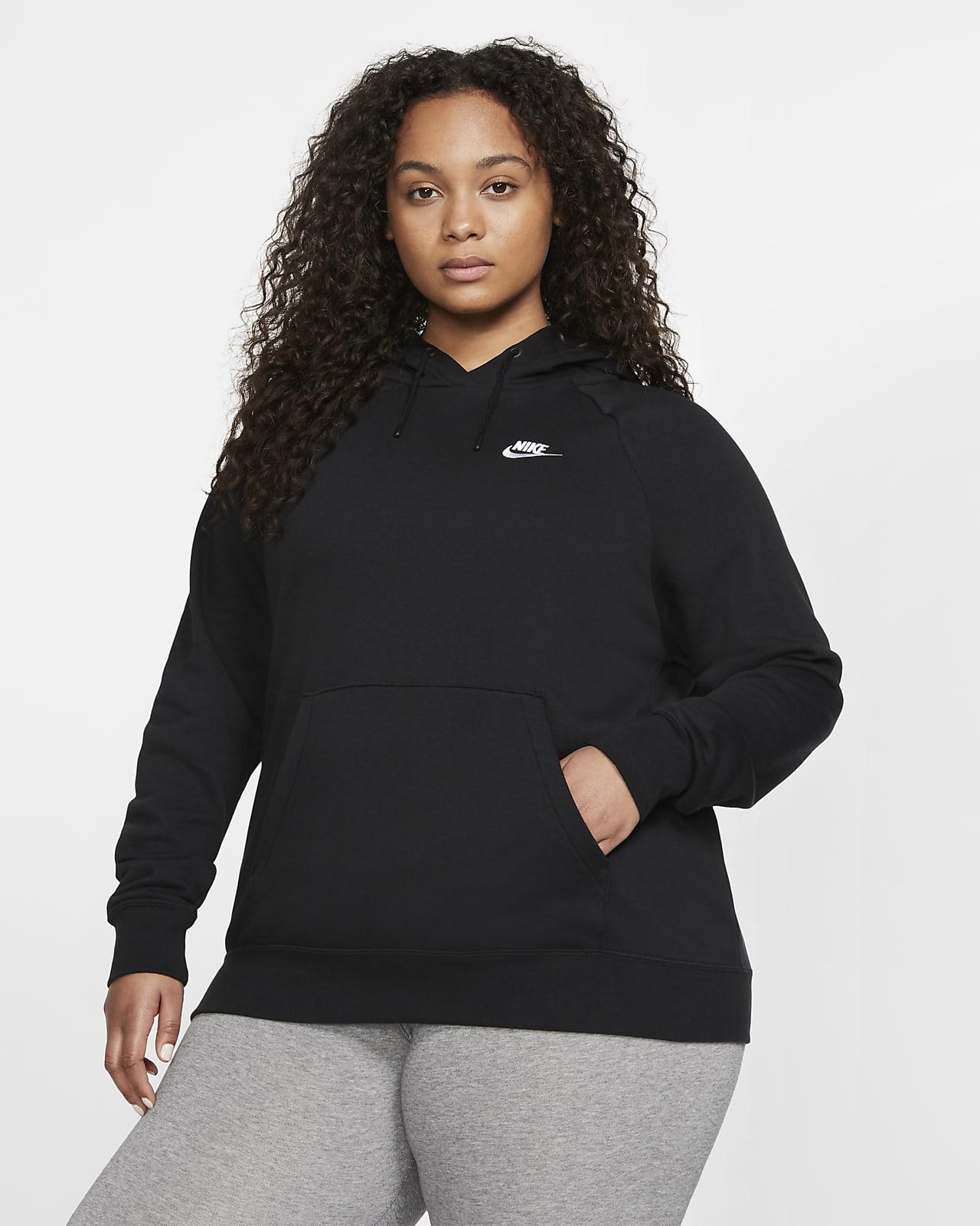 Damska dzianinowa bluza z kapturem (duże rozmiary) Nike Sportswear Essential