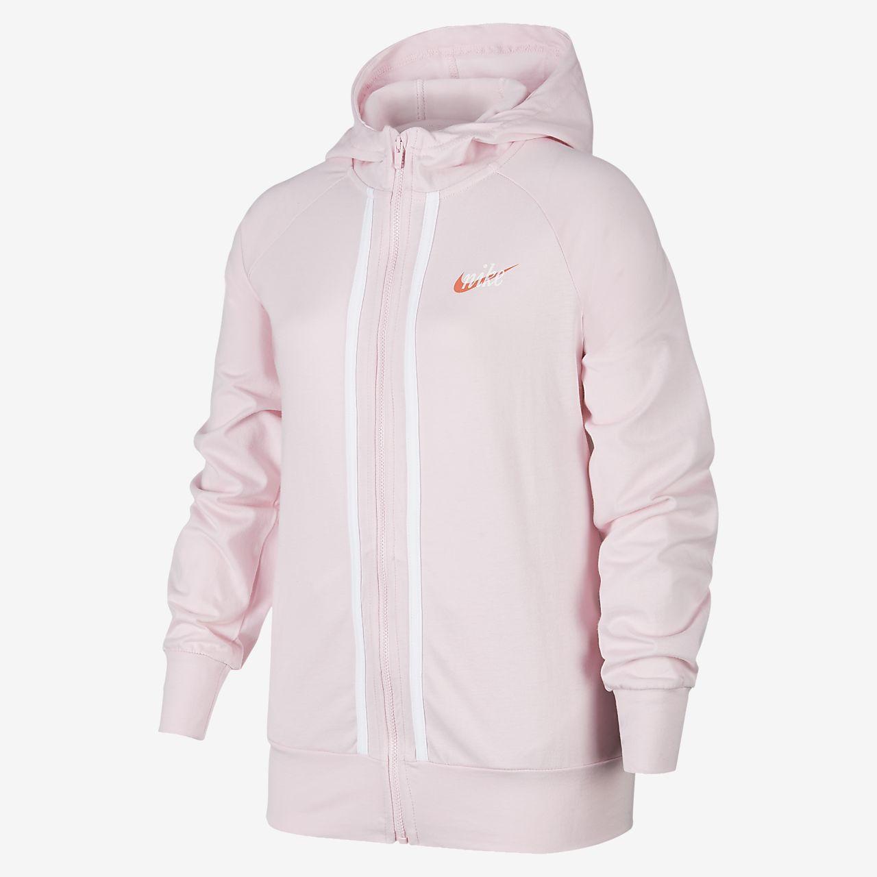 Nike Sportswear 大童(女孩)全长拉链开襟连帽衫