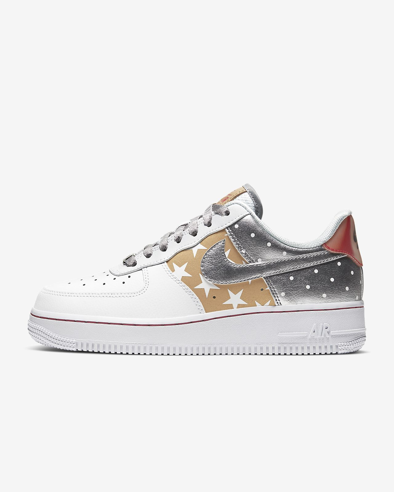 nike air force 1 argento