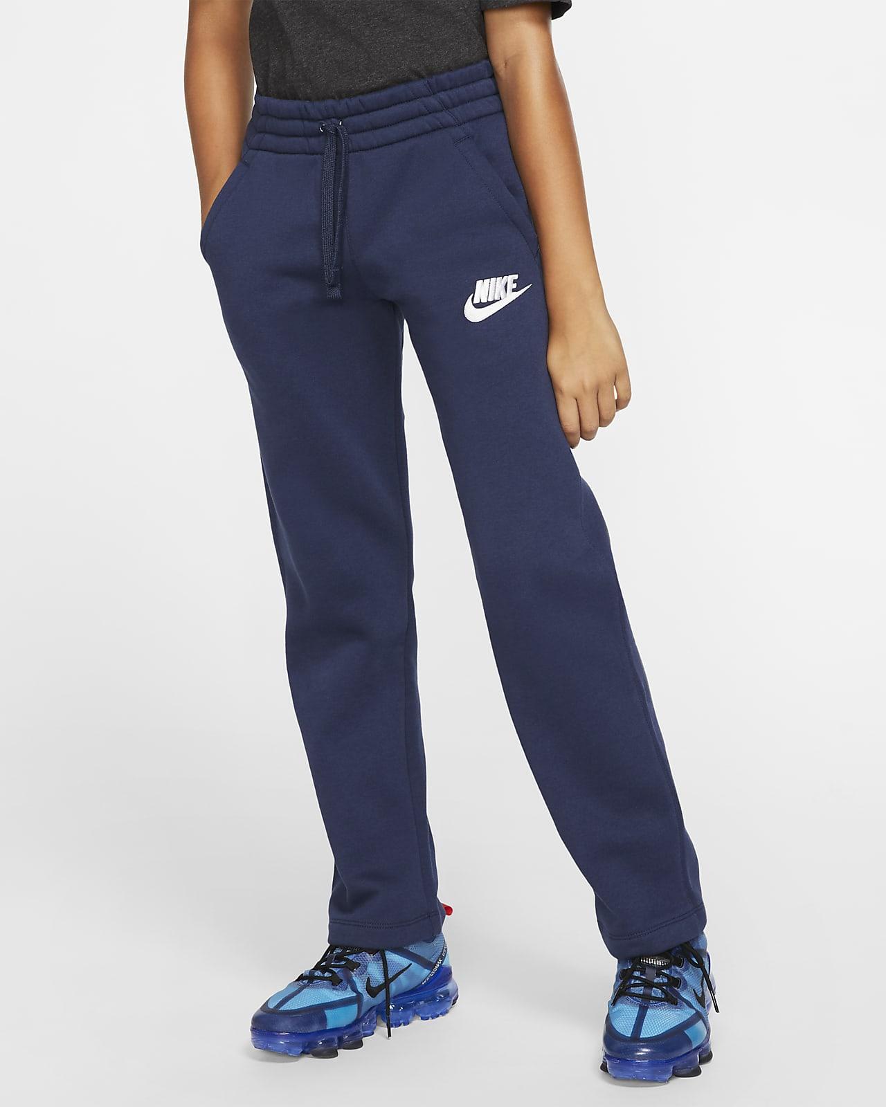 Pantalones con dobladillo abierto para niños talla grande Nike Sportswear Club Fleece