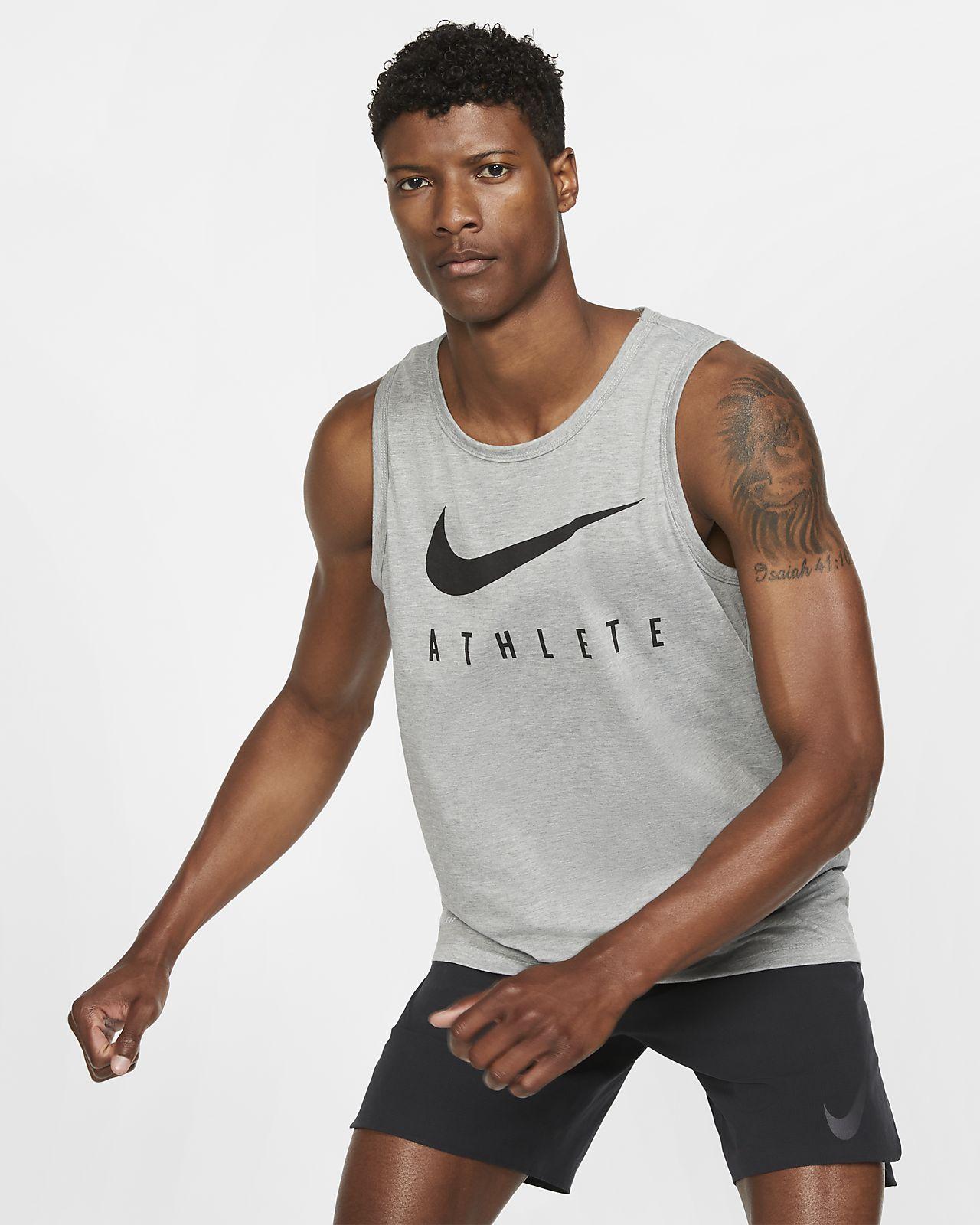Haut de training sans manches avec Swoosh Nike Dri-FIT pour Homme