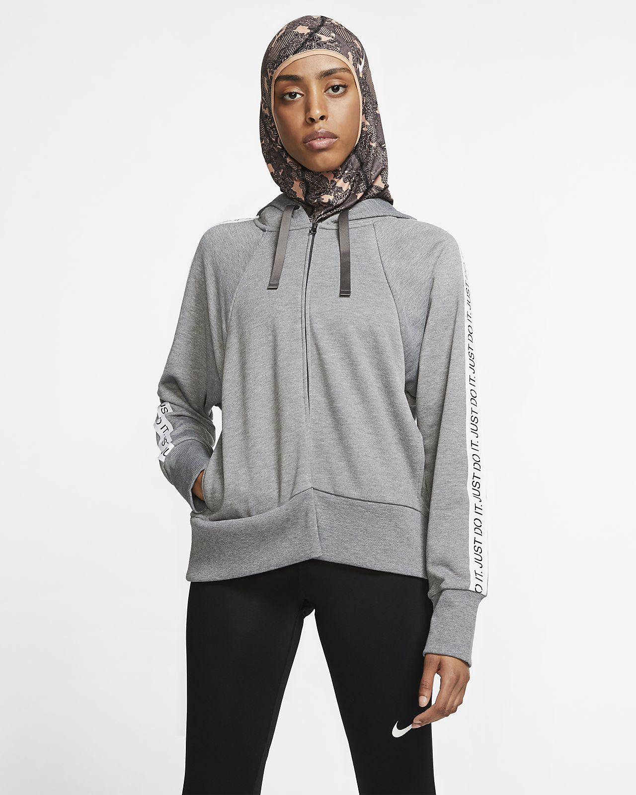 Sweat à capuche de training à zip Nike Dri FIT Get Fit pour Femme