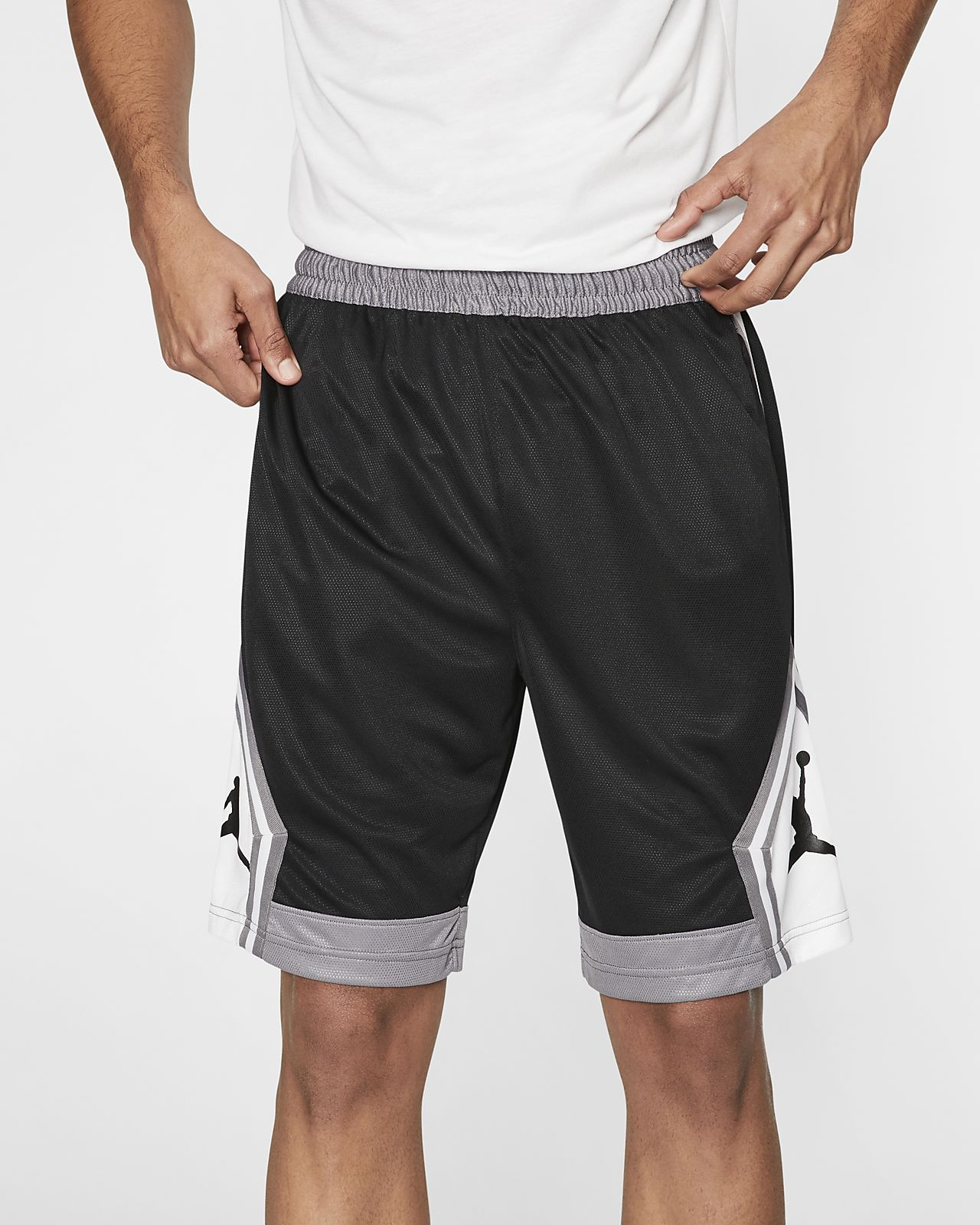 Shorts de básquetbol a rayas para hombre Jordan Jumpman Diamond