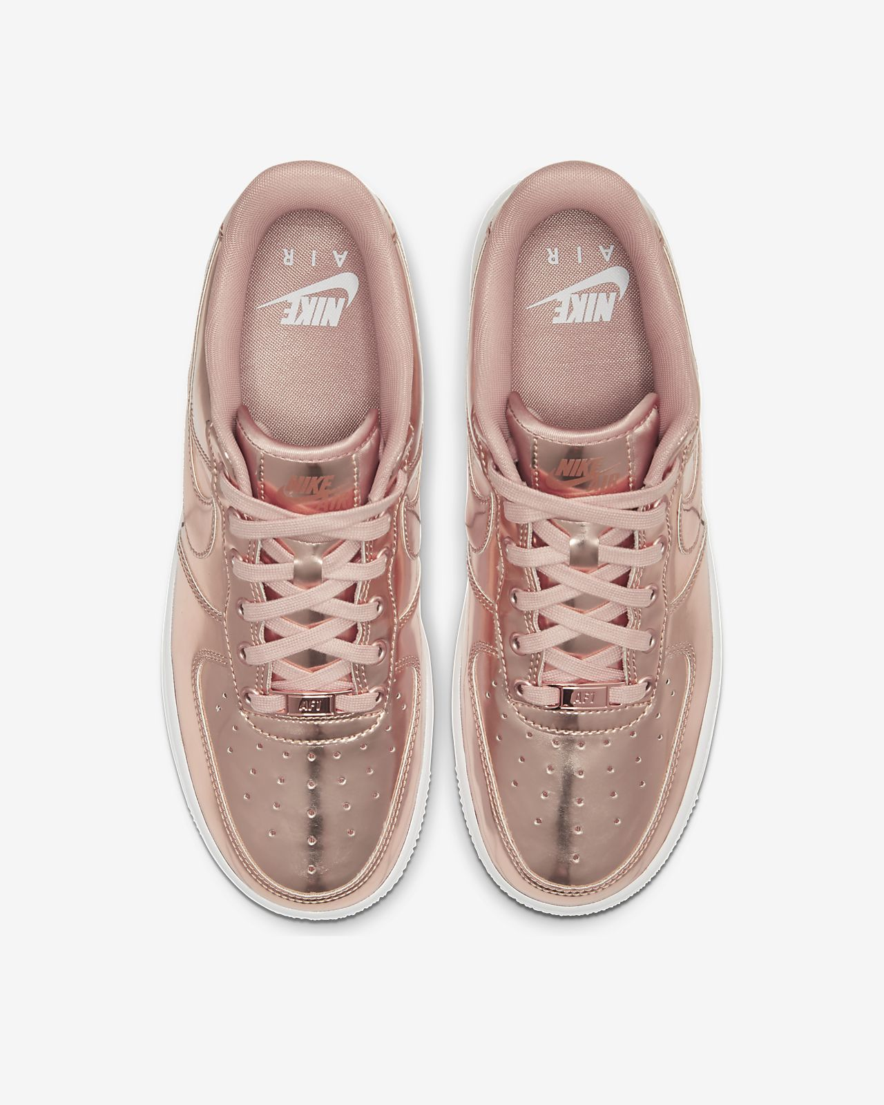NIKE W AIR FORCE 1 '07 LUX | BEIGE WHITE PINK GOLD | 898889