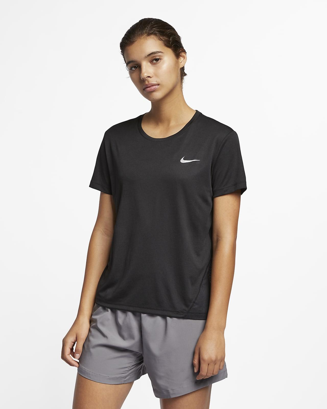 Playera de running de manga corta para mujer Nike Miler