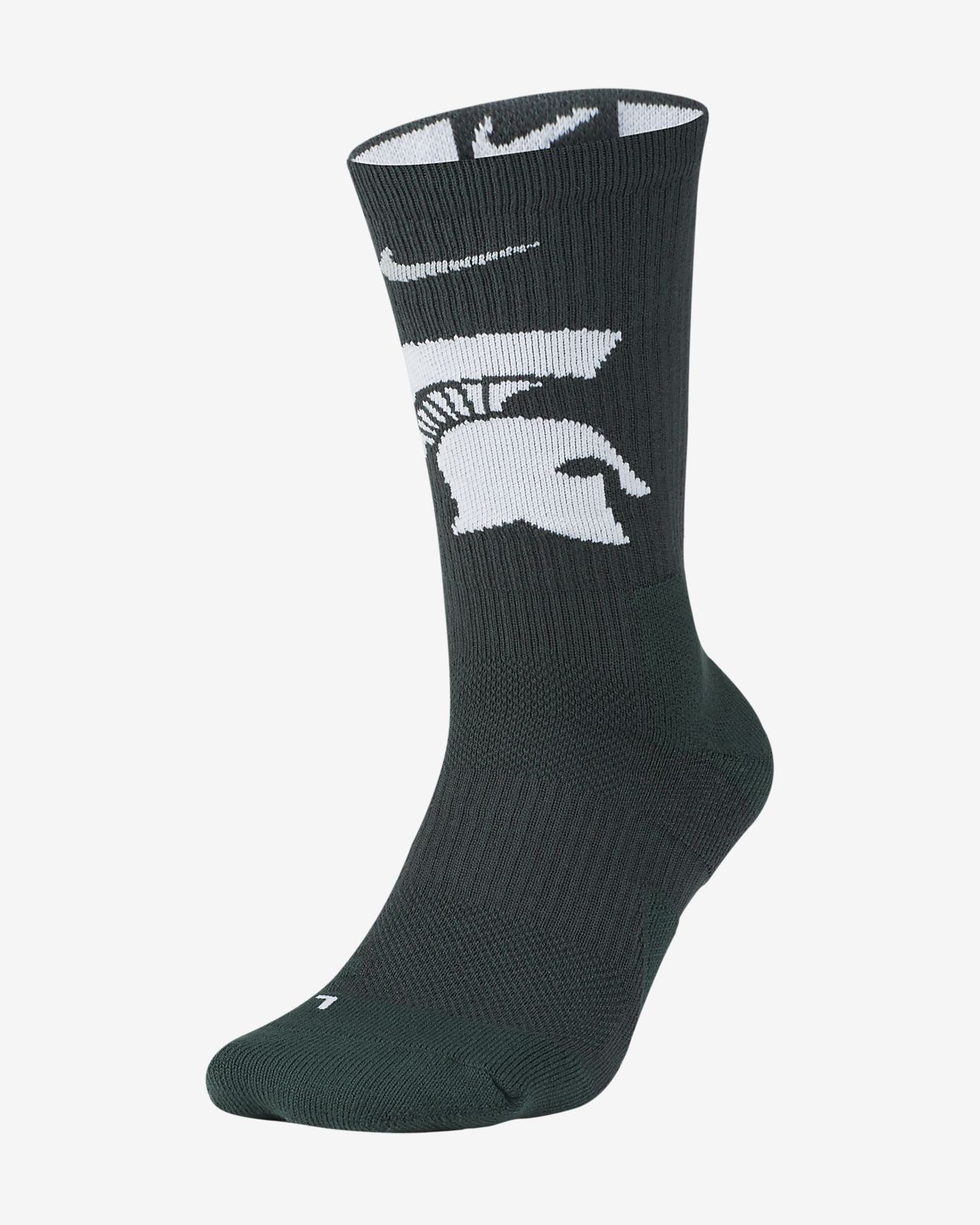 Nike College Elite (Michigan State) Basketball Crew Socks