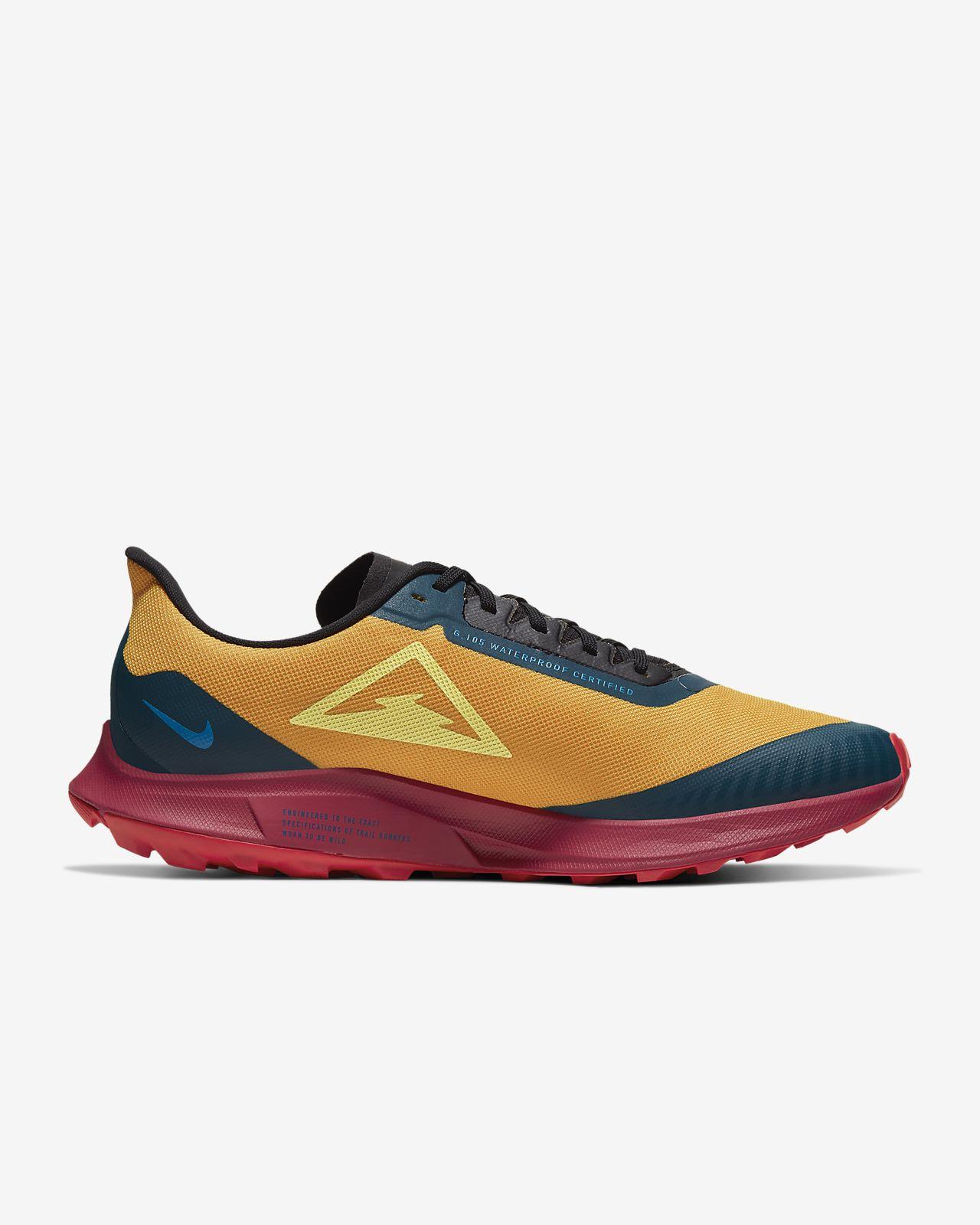 NIKE ZOOM PEGASUS TURBO SHIELD 30 BLACK Gold Running Shoes
