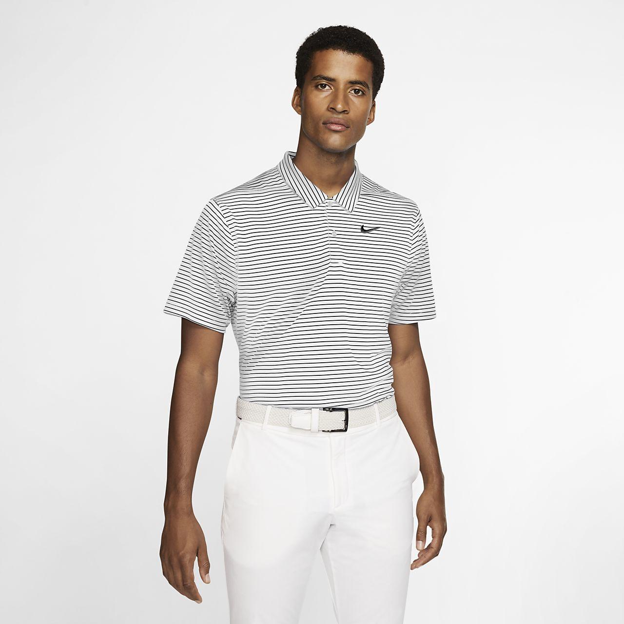 Nike Dri-FIT gestreiftes Golf-Poloshirt für Herren