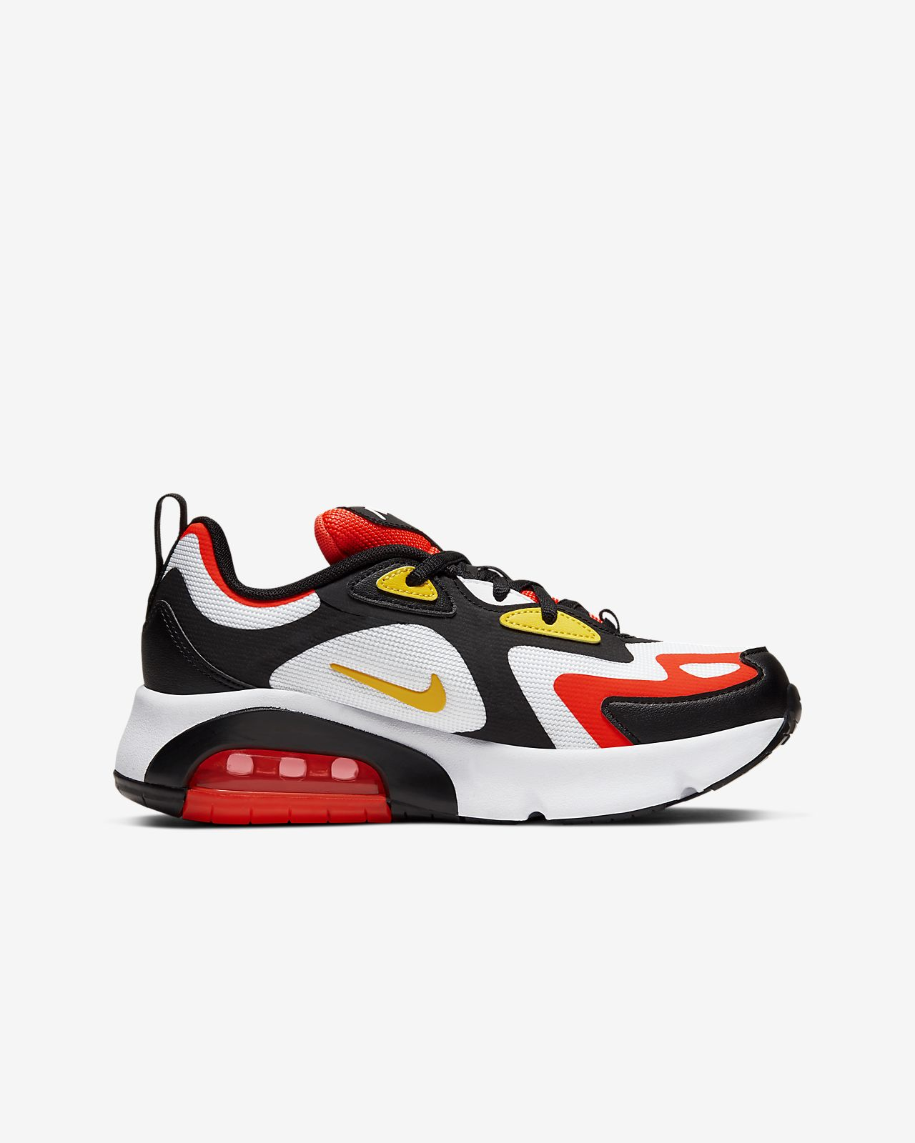 nike air max 200 blanc/rouge/jaune