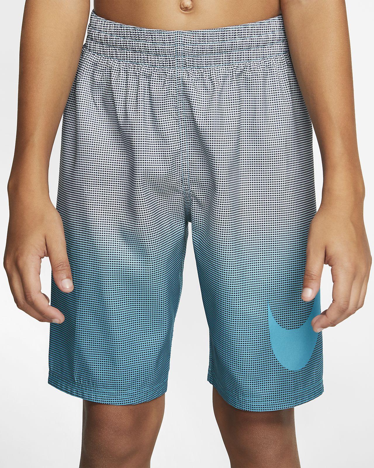 Large NIKE Boys Volley 4 Symbol Swim Shorts Turquoise