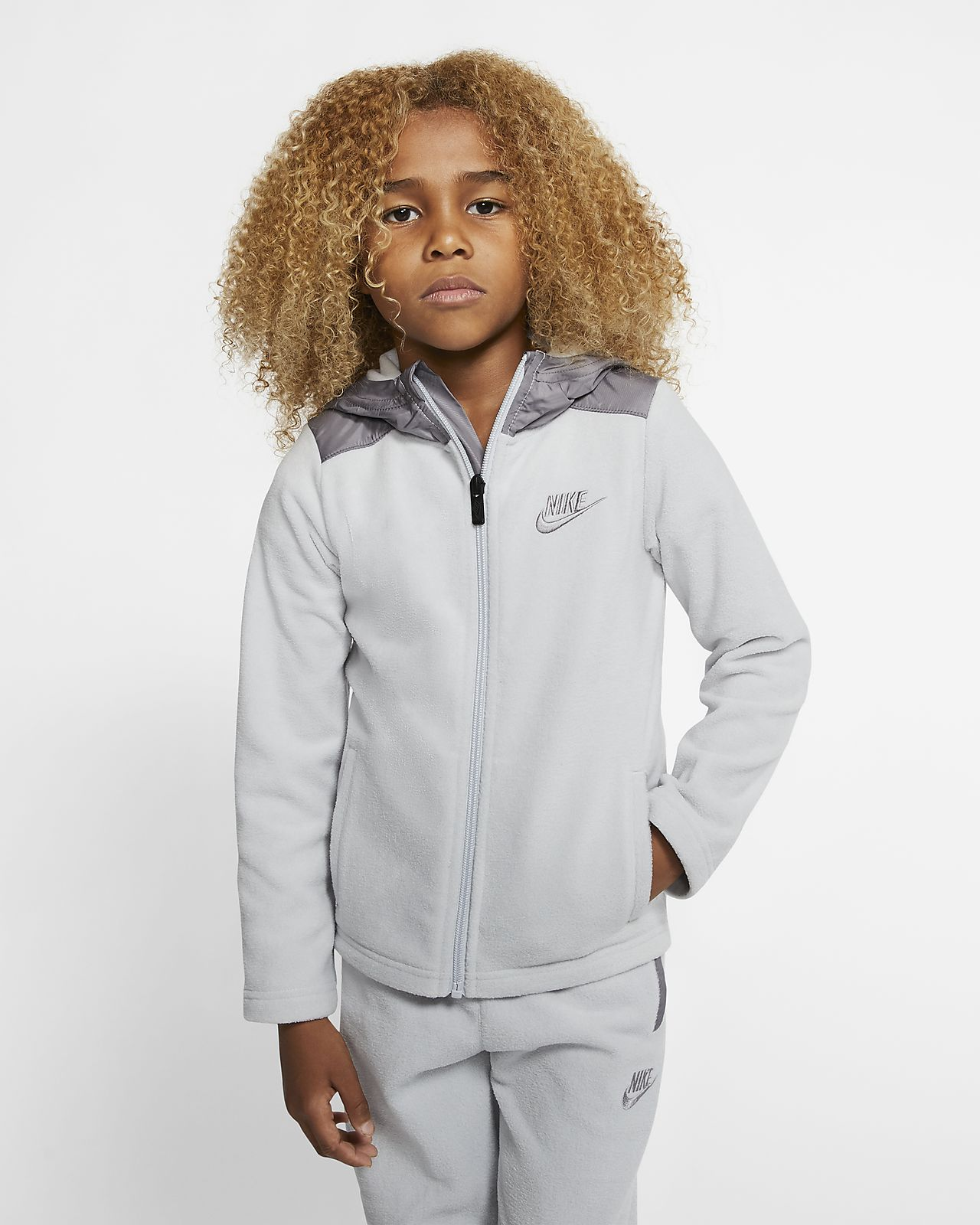 Nike Dri-FIT Little Kids' Winterized Full-Zip Hoodie