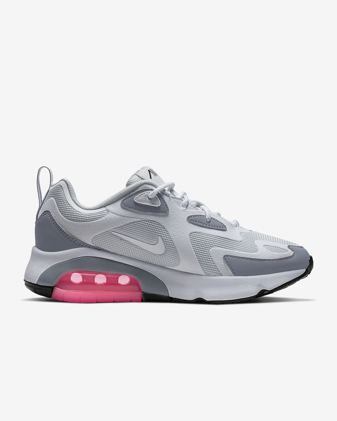 nike air max 200 black and white womens