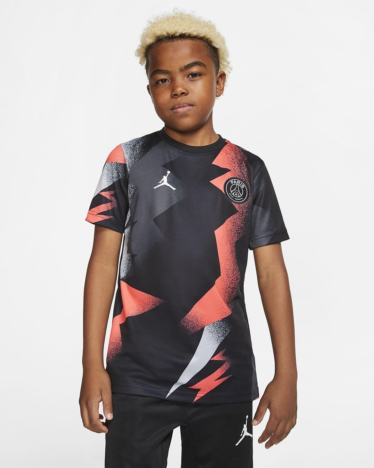 Haut de football à manches courtes Jordan x Paris Saint-Germain pour Enfant