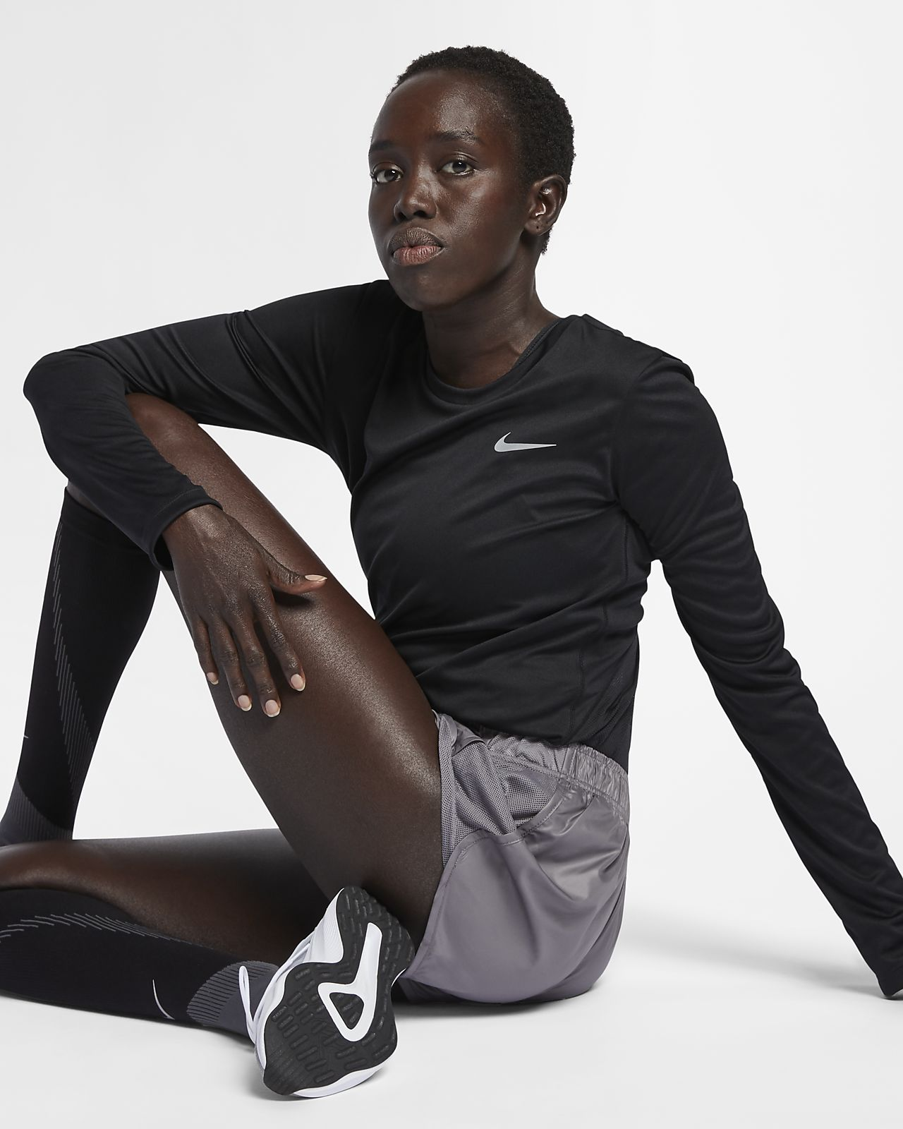 Damska koszulka do biegania Nike Miler