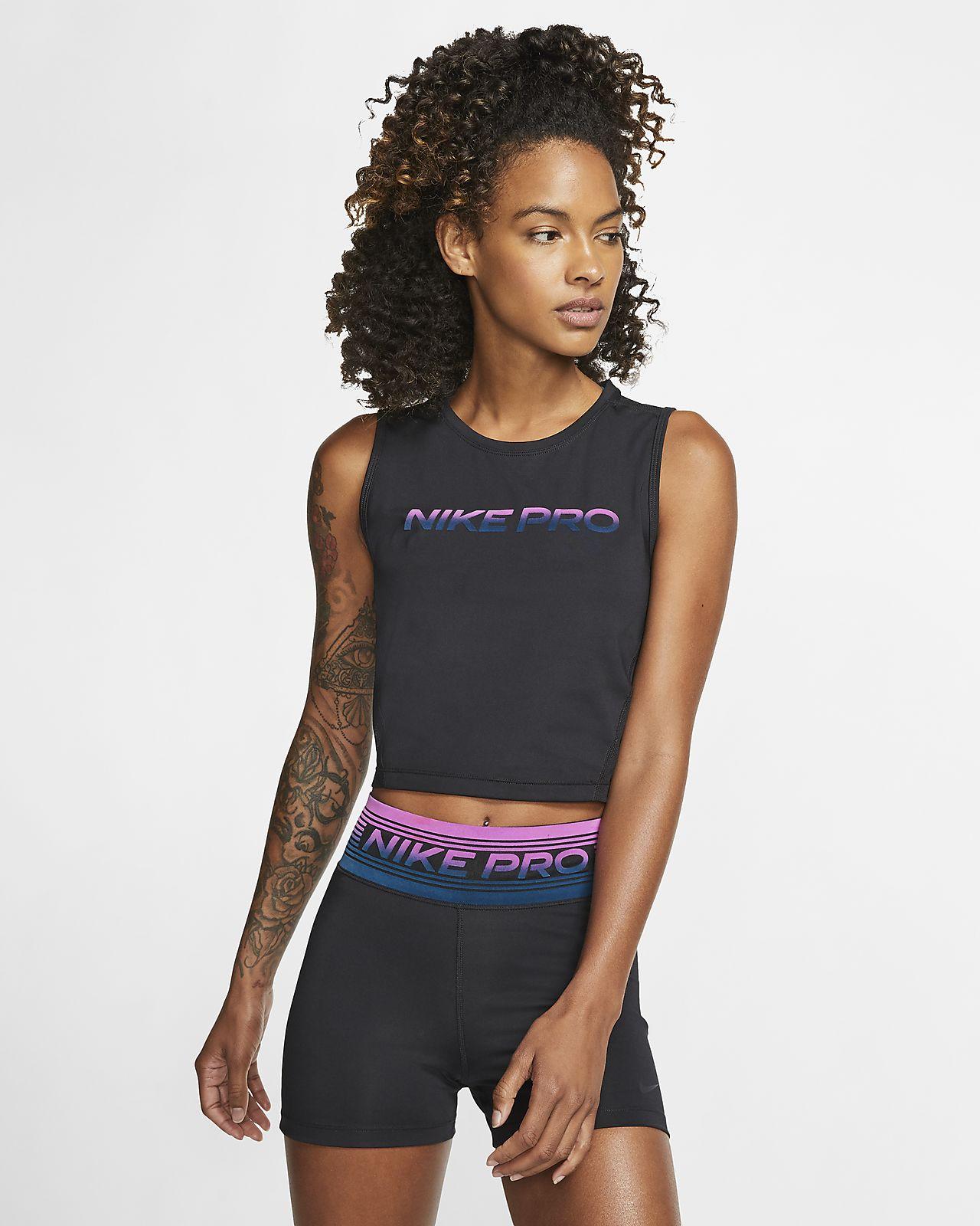 Damska krótka koszulka bez rękawów Nike Pro