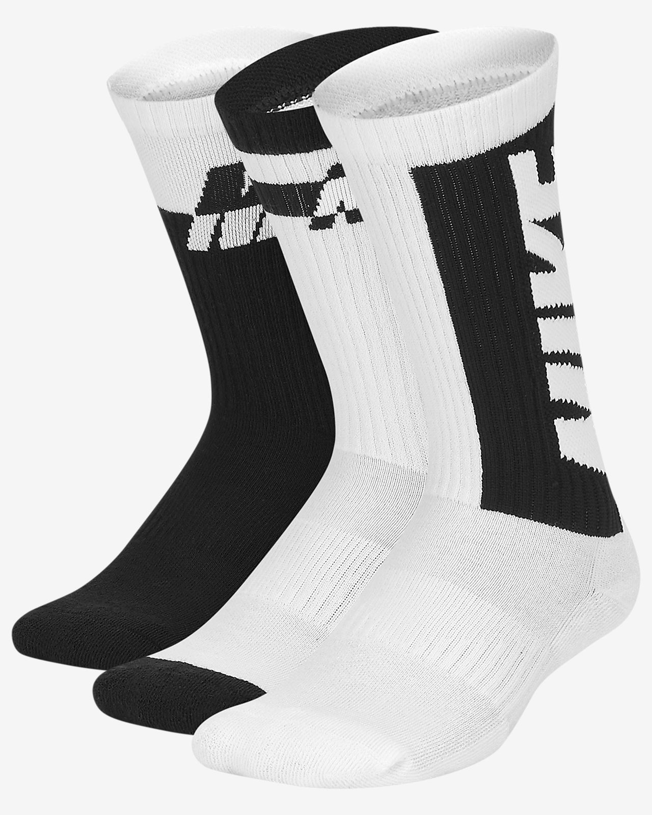 Nike Equipment SX5572-P Sporting Goods 3 Pairs NIKE Kids Everyday Max Cushion Crew Socks