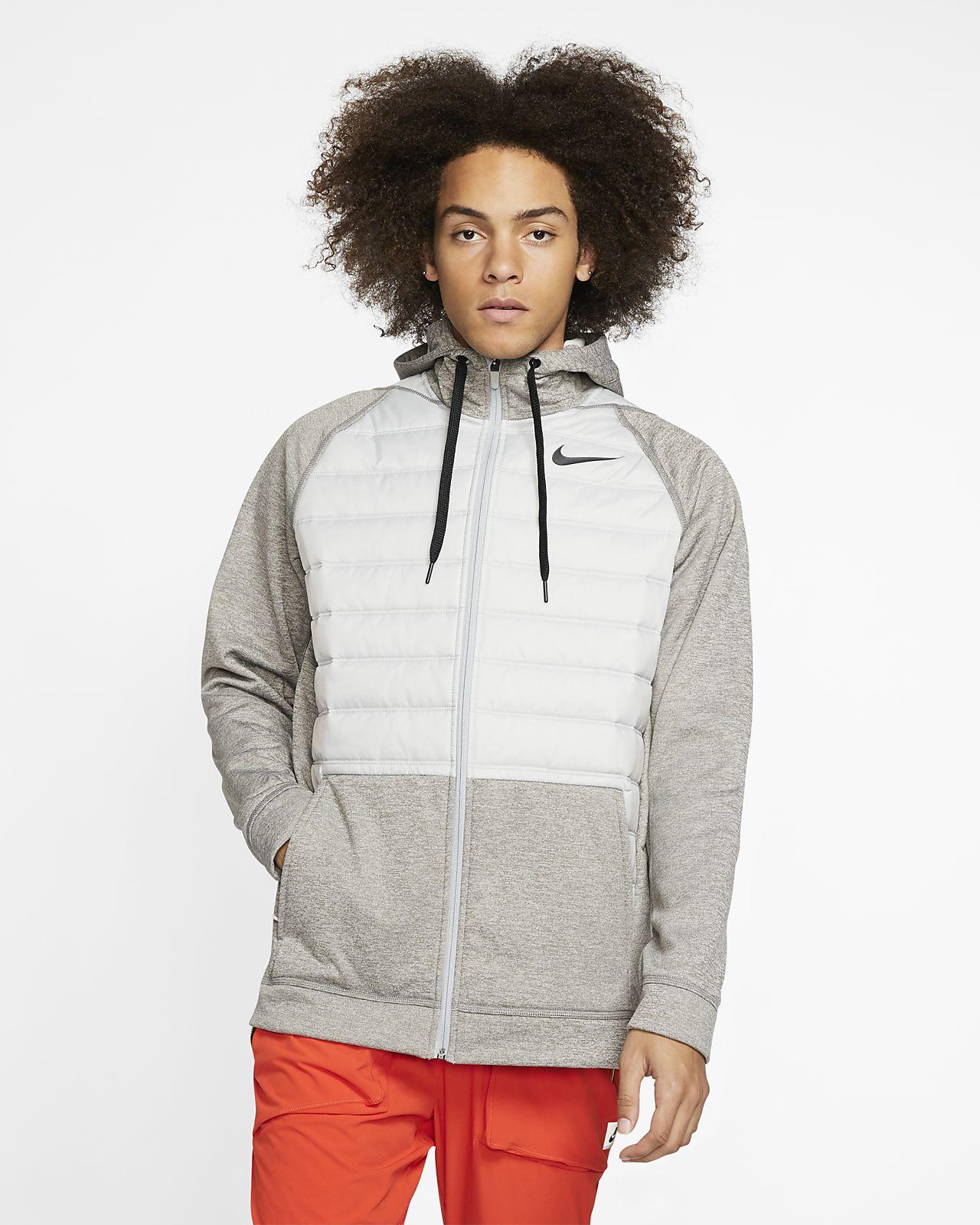 Sweat de training à capuche et zip pour l'hiver Nike Therma pour Homme