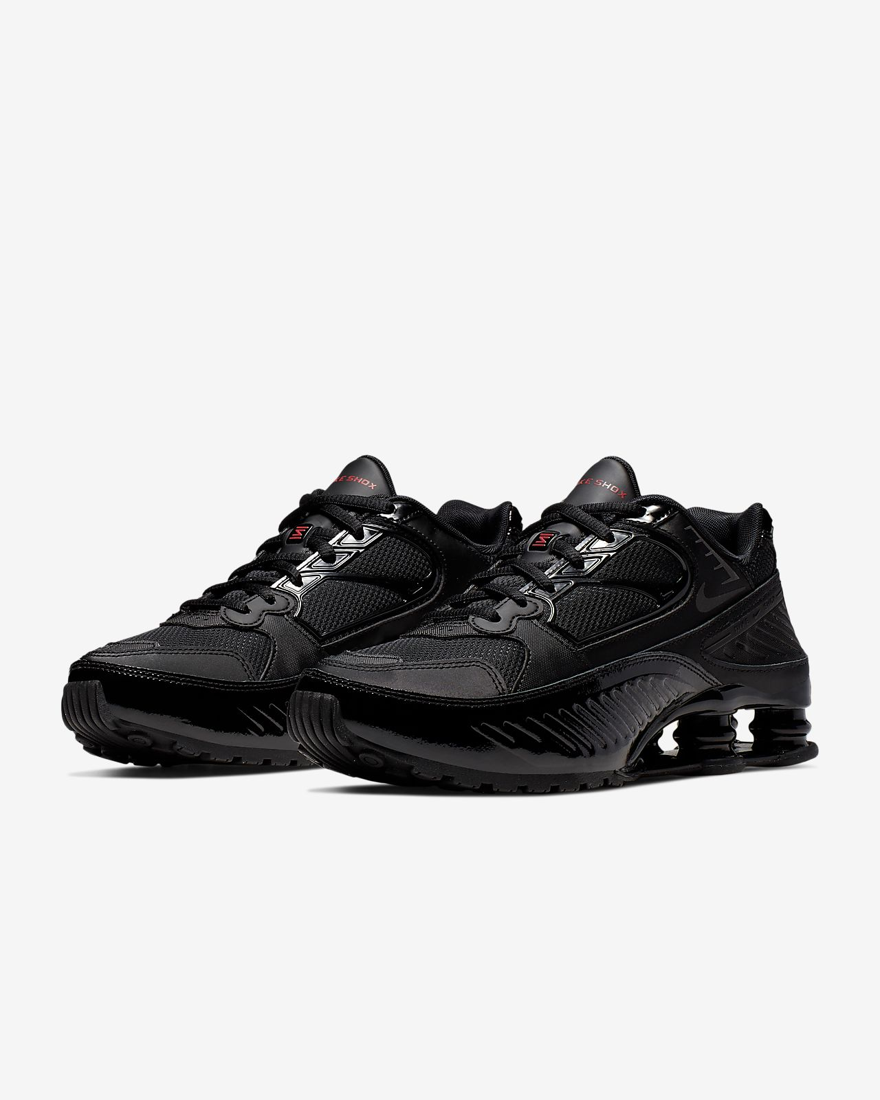 Nike Shox Enigma 9000 Sneakers BlackBlackGym Red Black