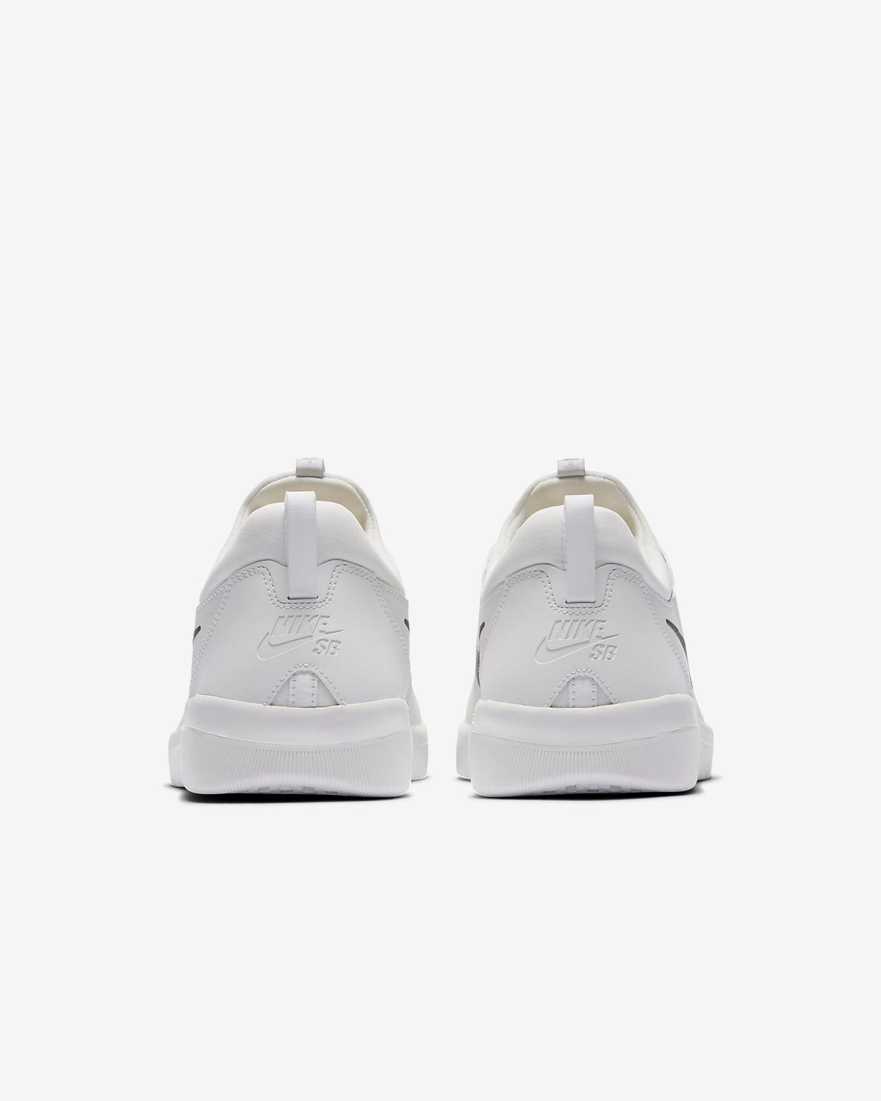Nike SB Nyjah Free Sneakers Damer Hvid Sko Low Med Billig