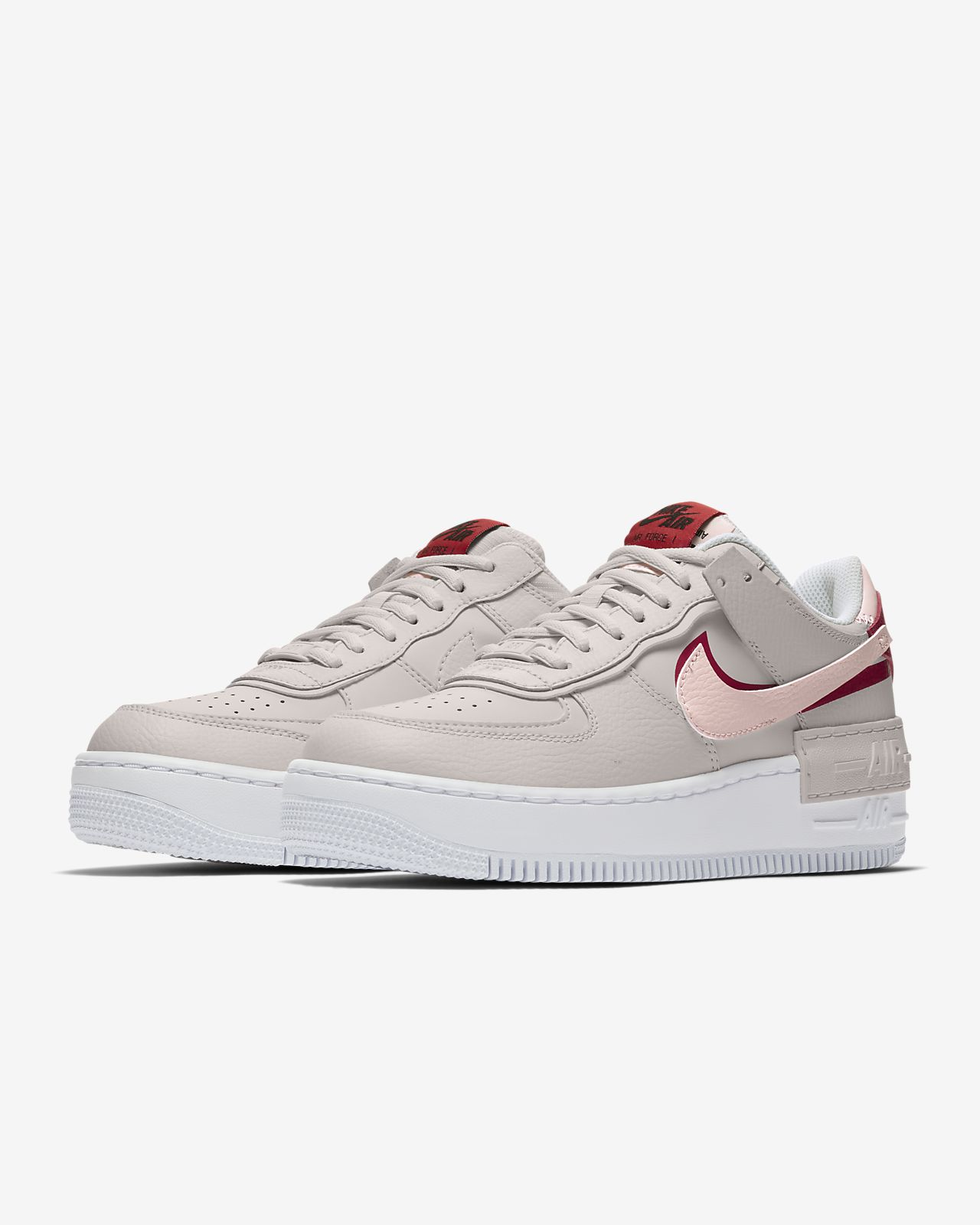 nike air force 1 rouge et blanche femme
