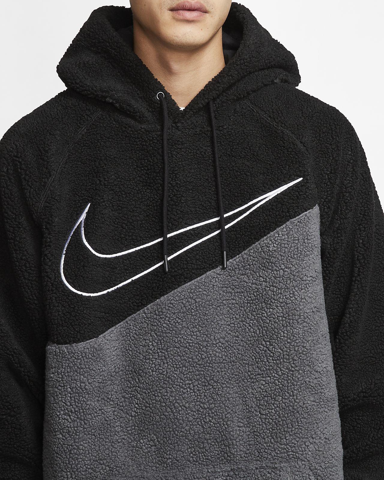 nike hoodie swoosh in middle