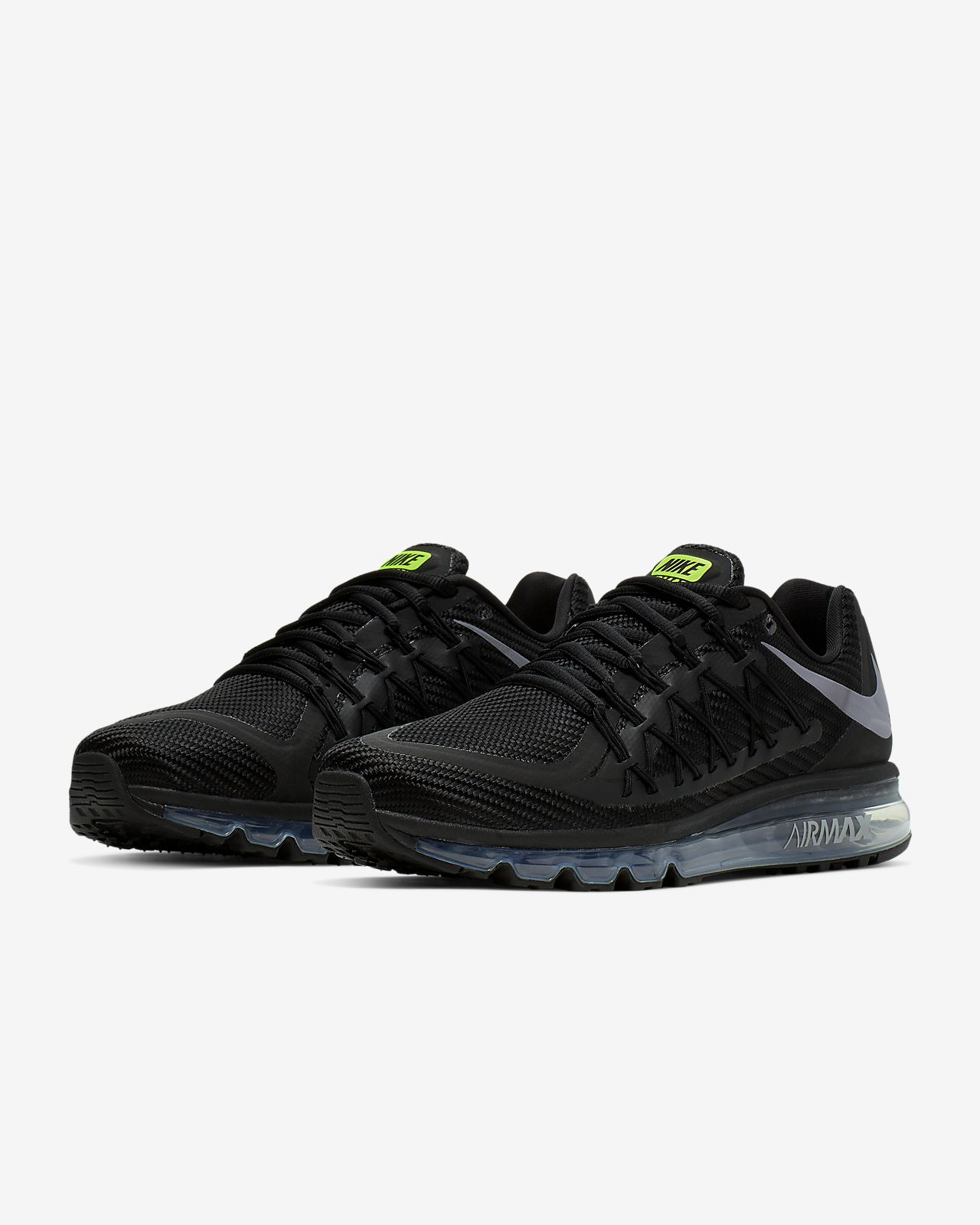 Nike Flyknit Air Max 2015 Mens Black White Runn