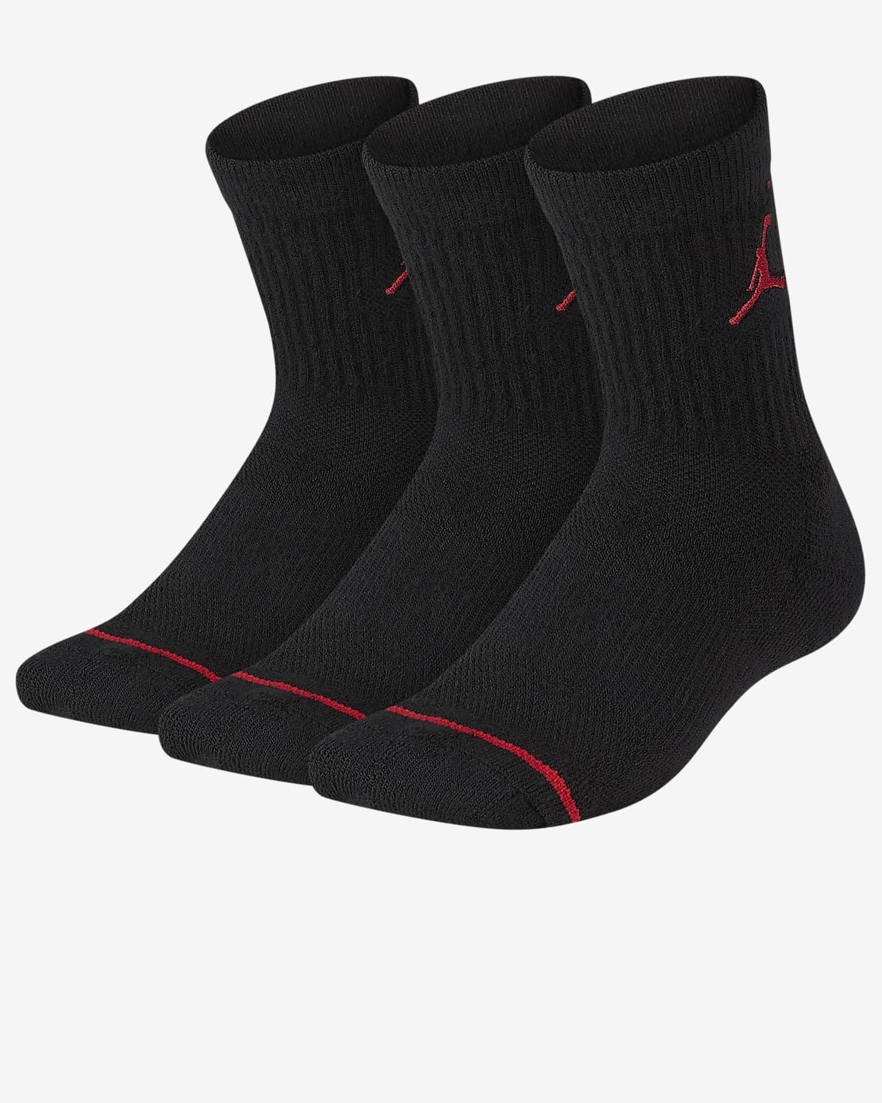 Calcetines largos para niños talla grande Jordan Cushioned (3 pares) Calcetines largos para niños talla grande Jordan Cushioned (3 pares)
