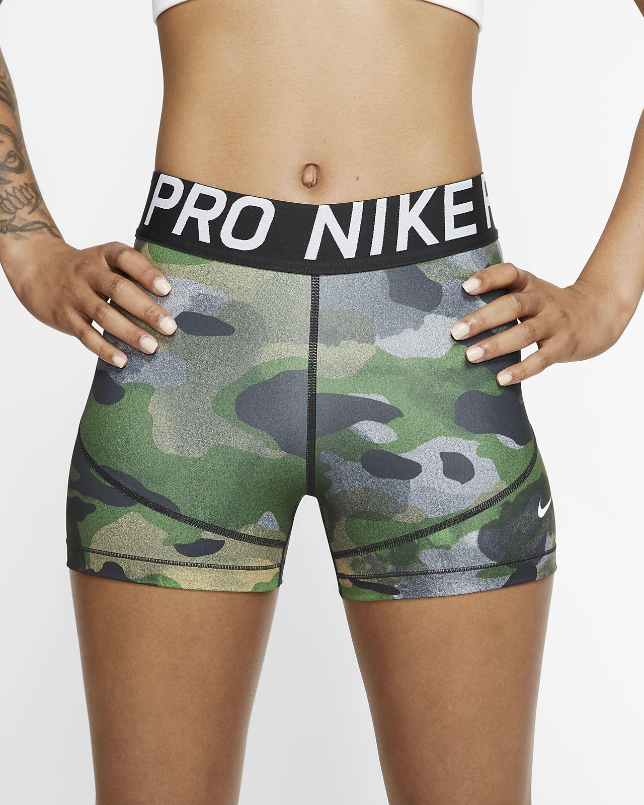 กางเกงขาสั้นลายพราง 3 นิ้วผู้หญิง Nike Pro