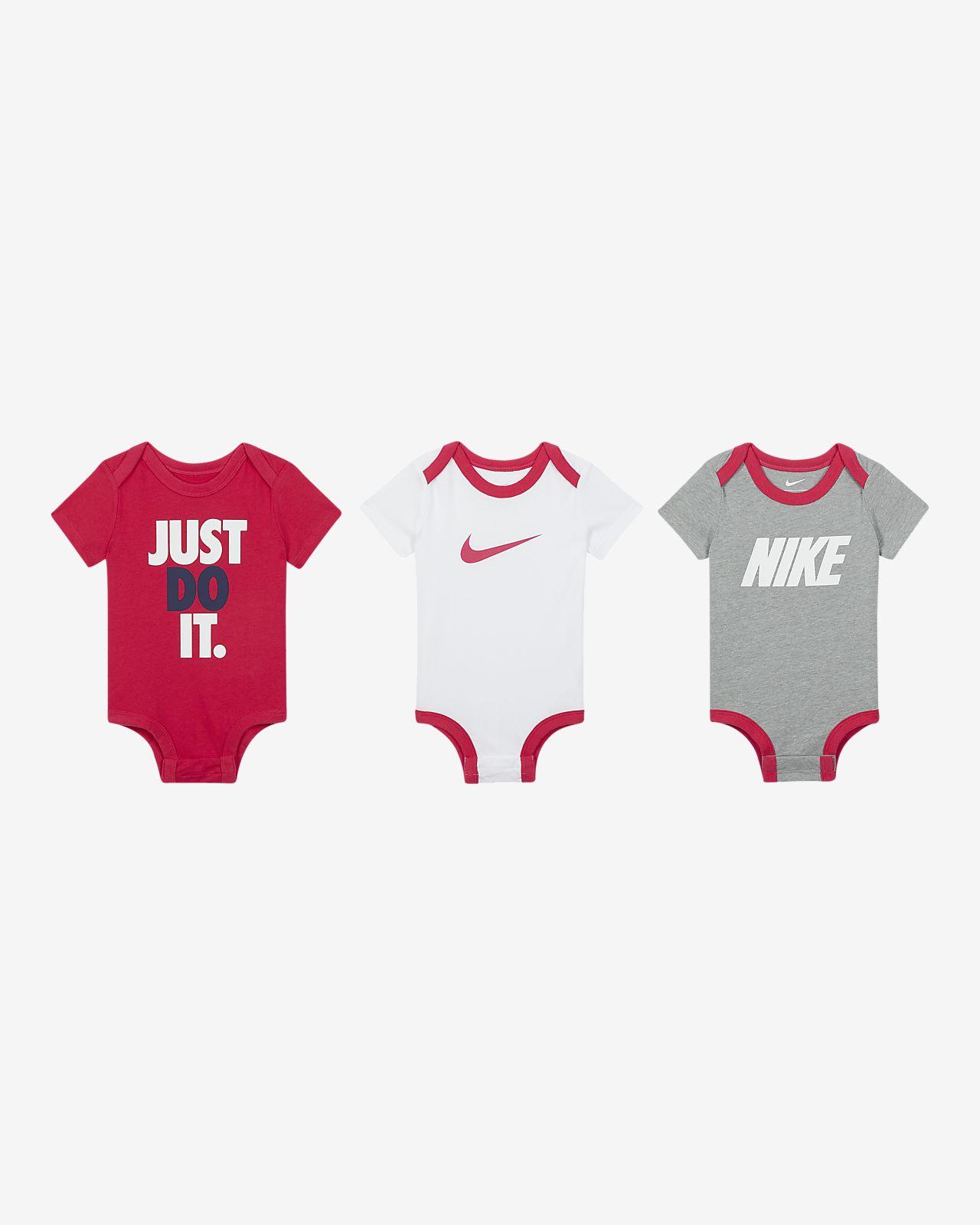 Nike Baby (0–9M) Bodysuit Set (3-Pack)