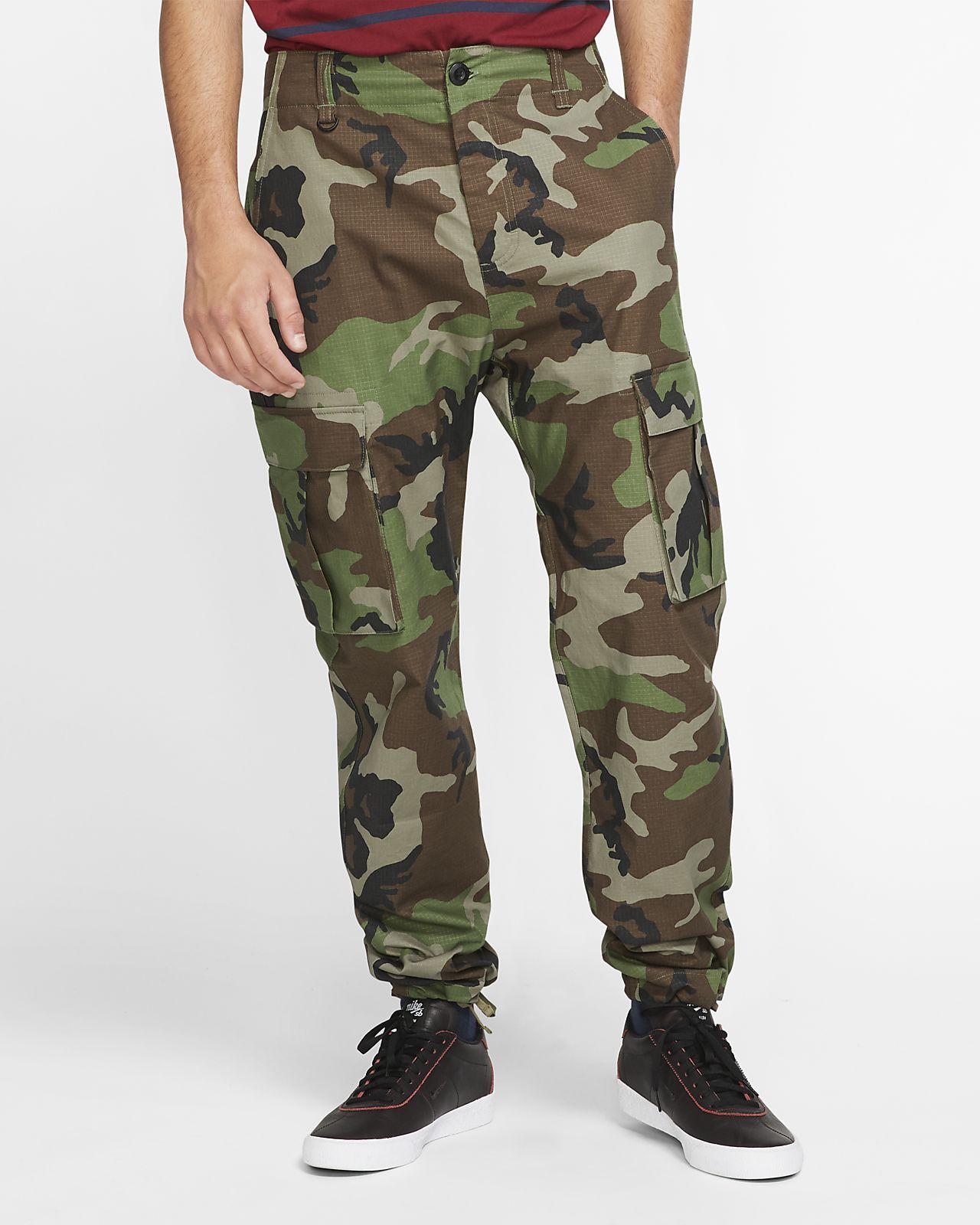 Nike SB Flex FTM Kamuflaj Desenli Erkek Kaykay Kargo Pantolon
