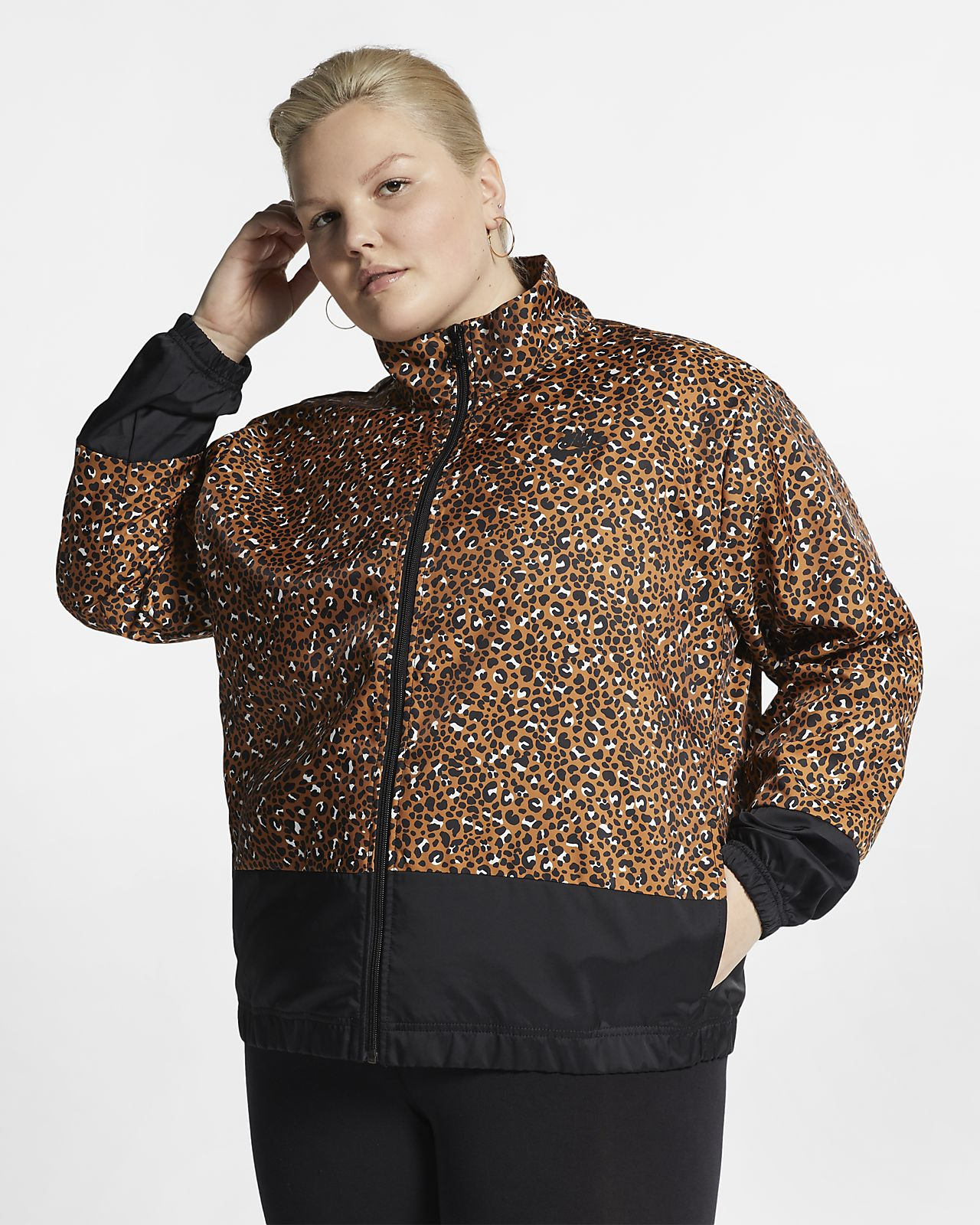 Veste tissée Nike Sportswear Animal Print pour Femme (grande taille)