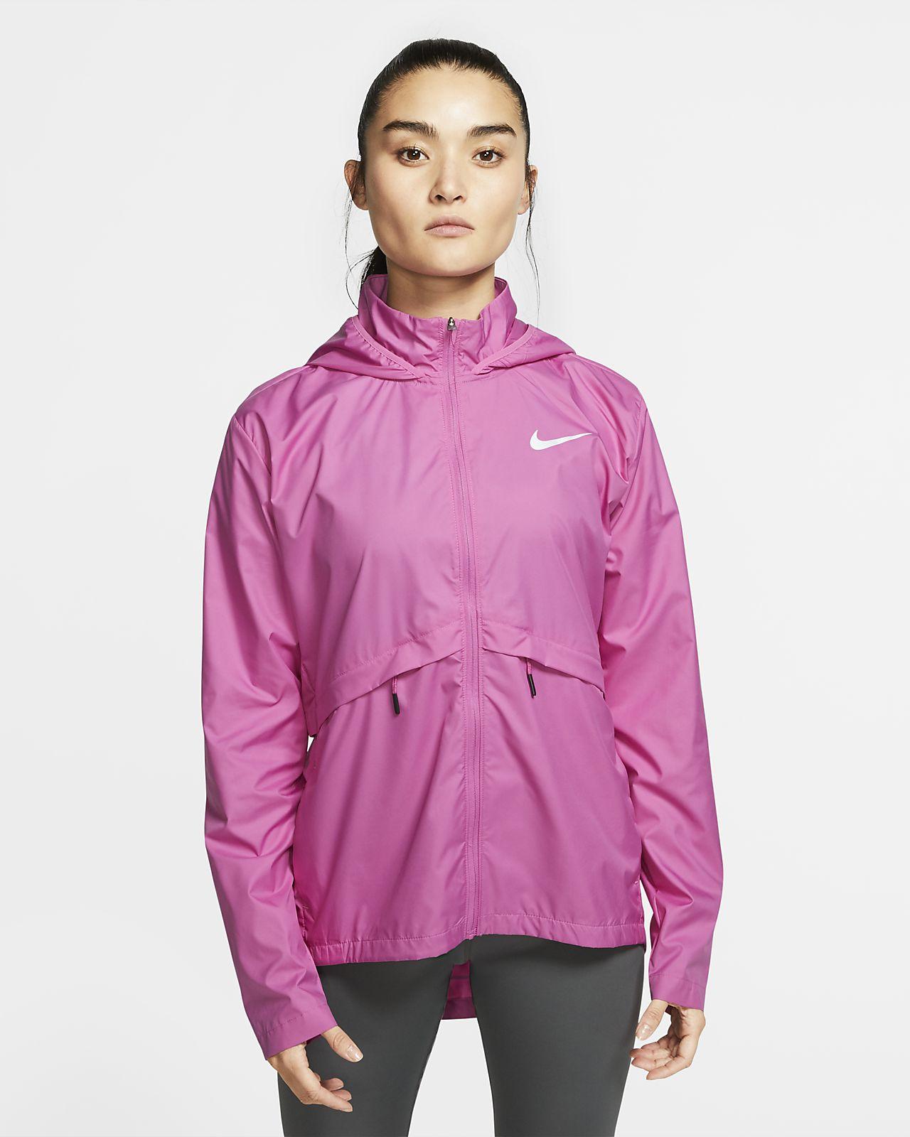 Nike Essential verstaubare Lauf-Regenjacke für Damen